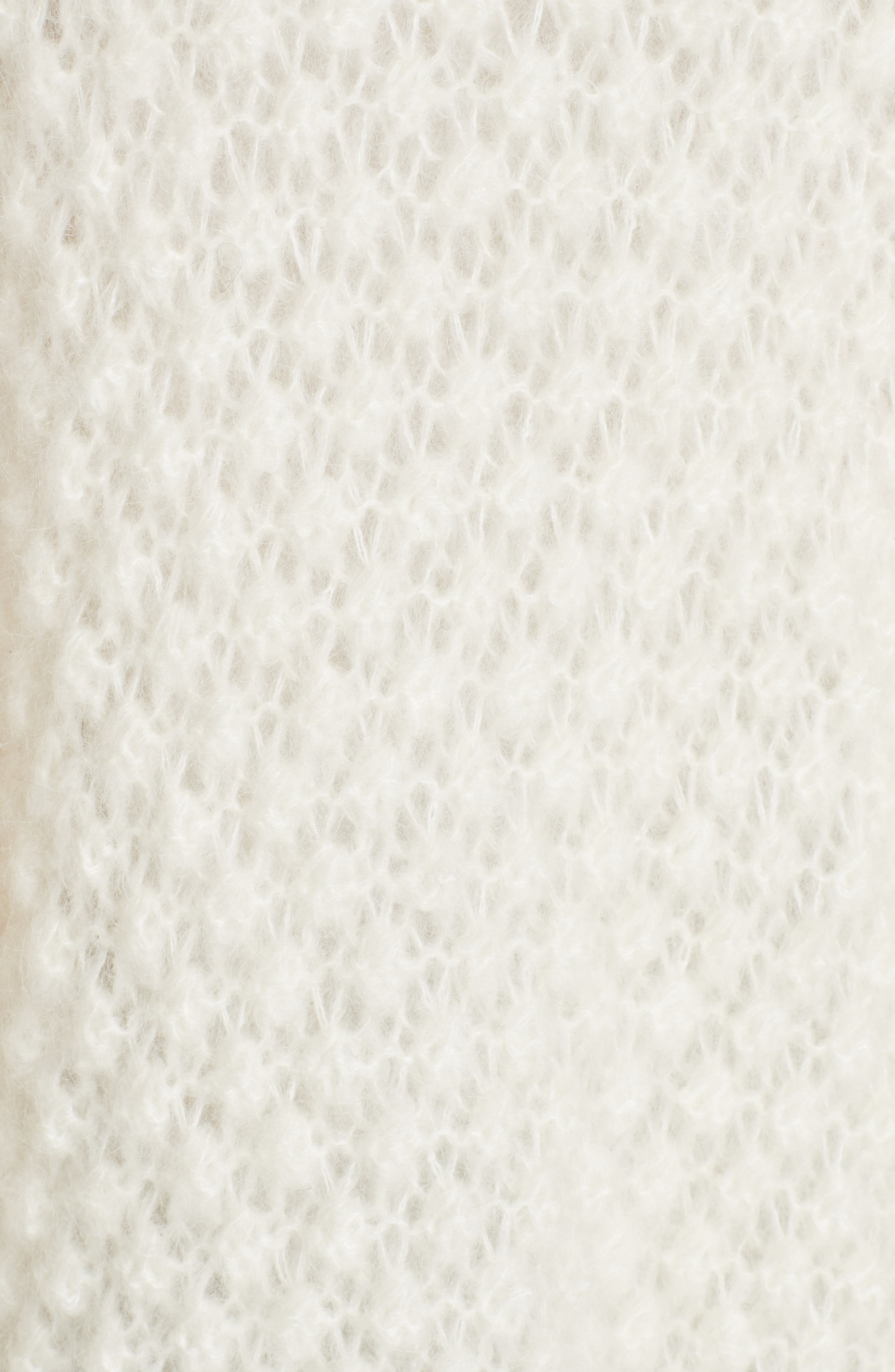 Snow White Knit Cardigan,                             Alternate thumbnail 5, color,                             IVORY