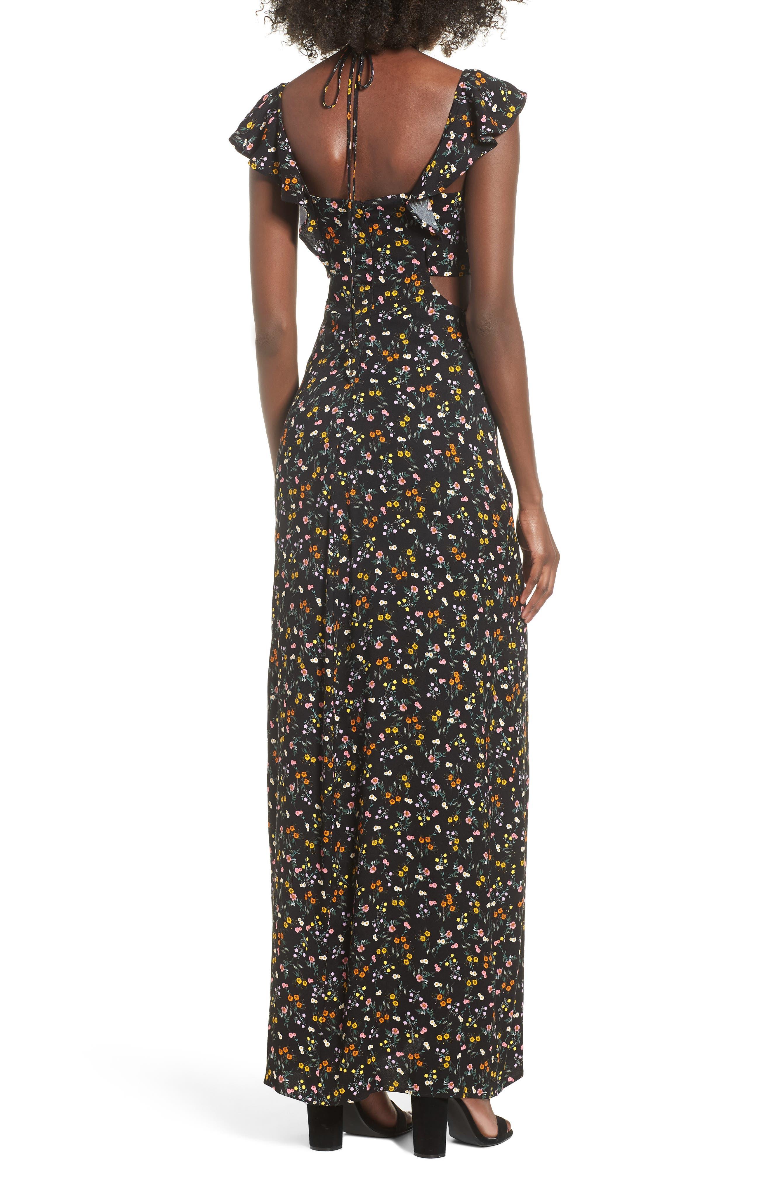 Alya Maxi Dress,                             Alternate thumbnail 2, color,                             001