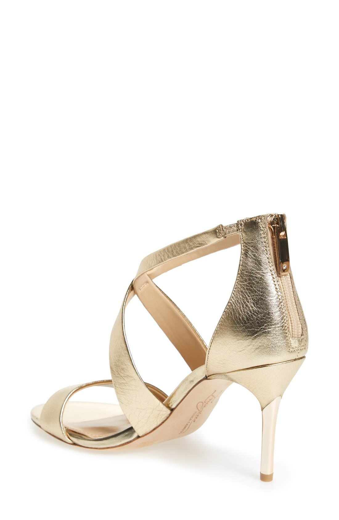 'Pascal 2' Strappy Evening Sandal,                             Alternate thumbnail 3, color,                             SOFT GOLD LEATHER
