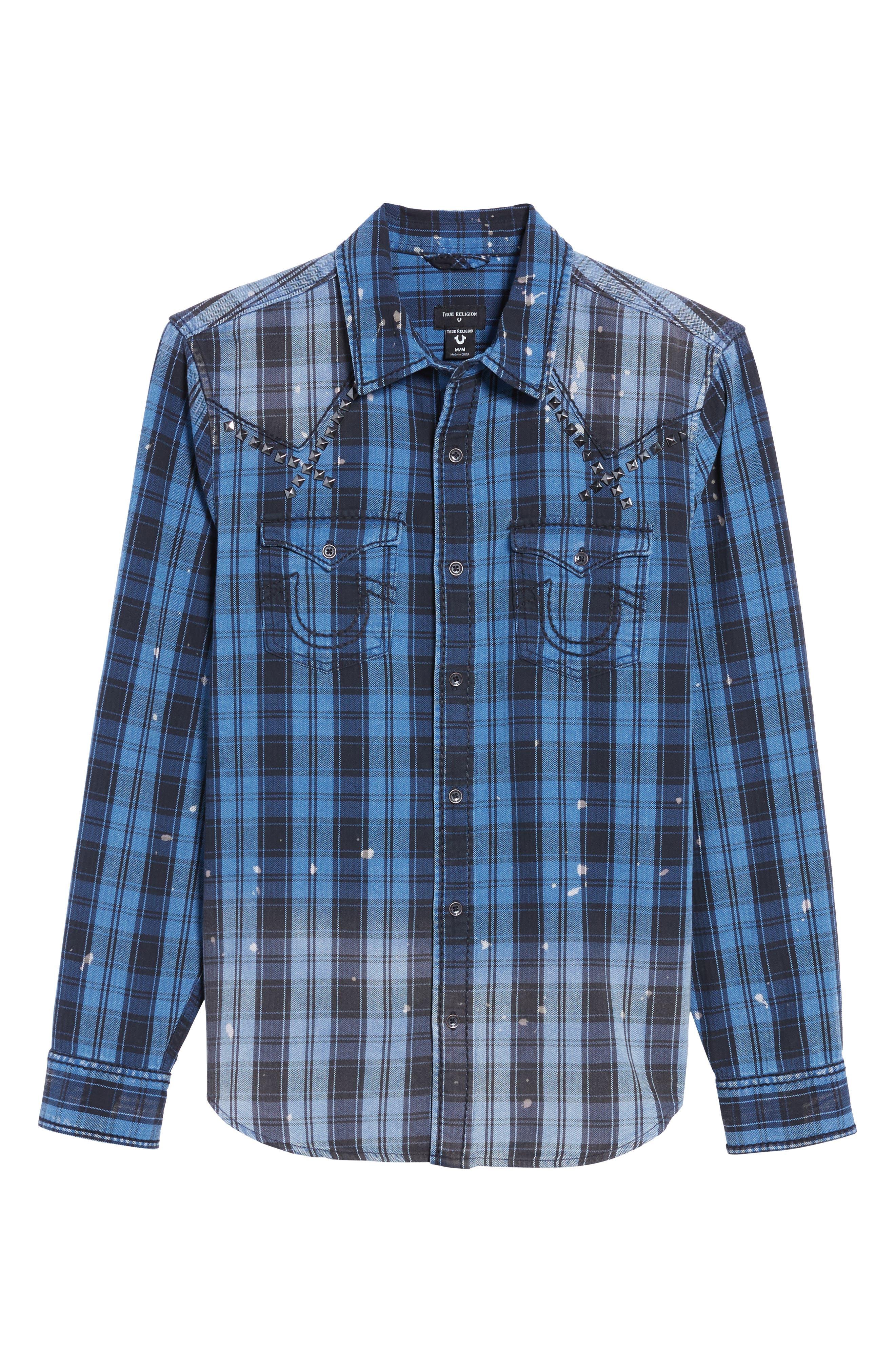 Studded Shirt,                             Alternate thumbnail 6, color,                             400