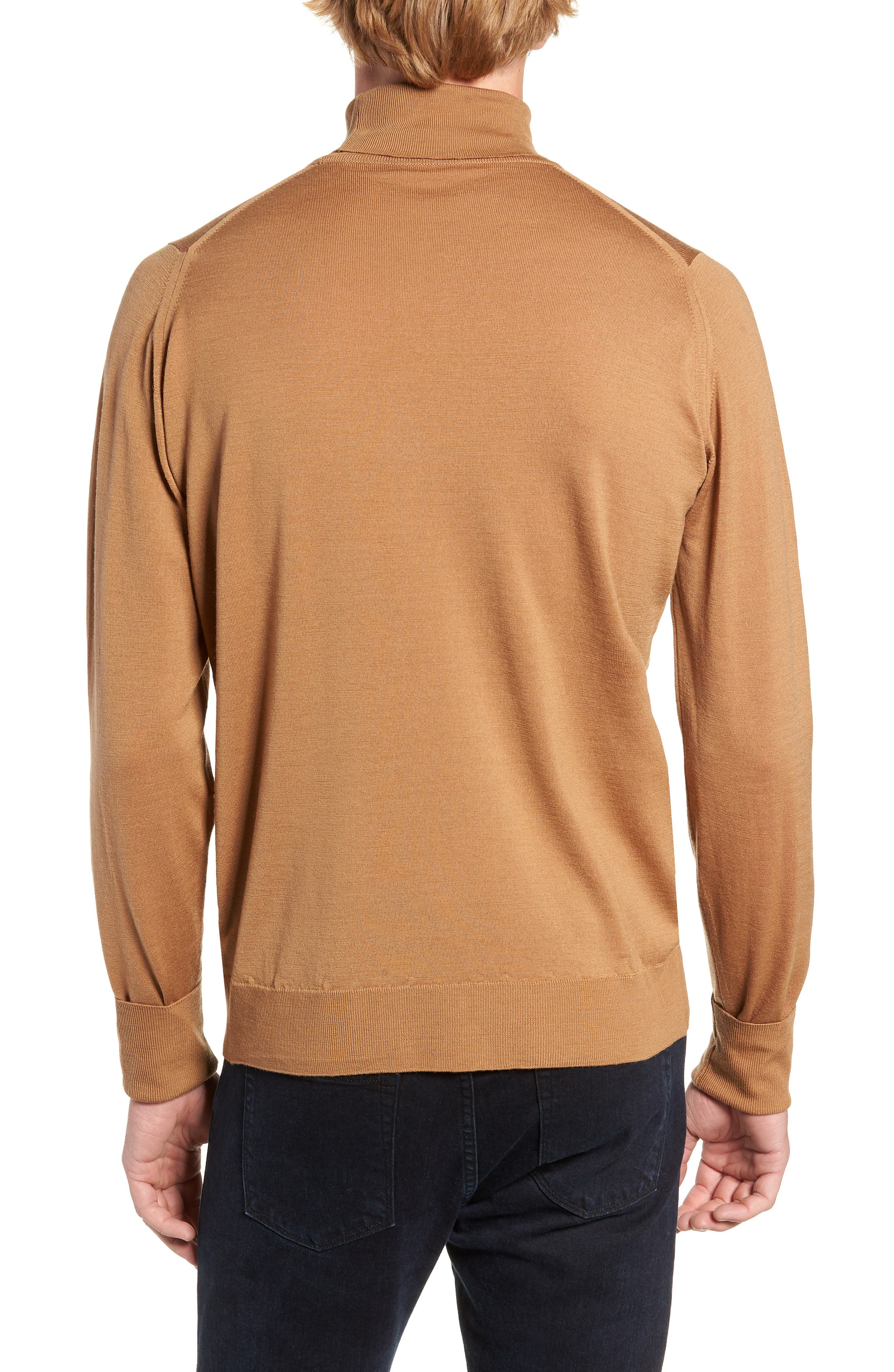 'Richards' Easy Fit Turtleneck Wool Sweater,                             Alternate thumbnail 2, color,                             CAMEL