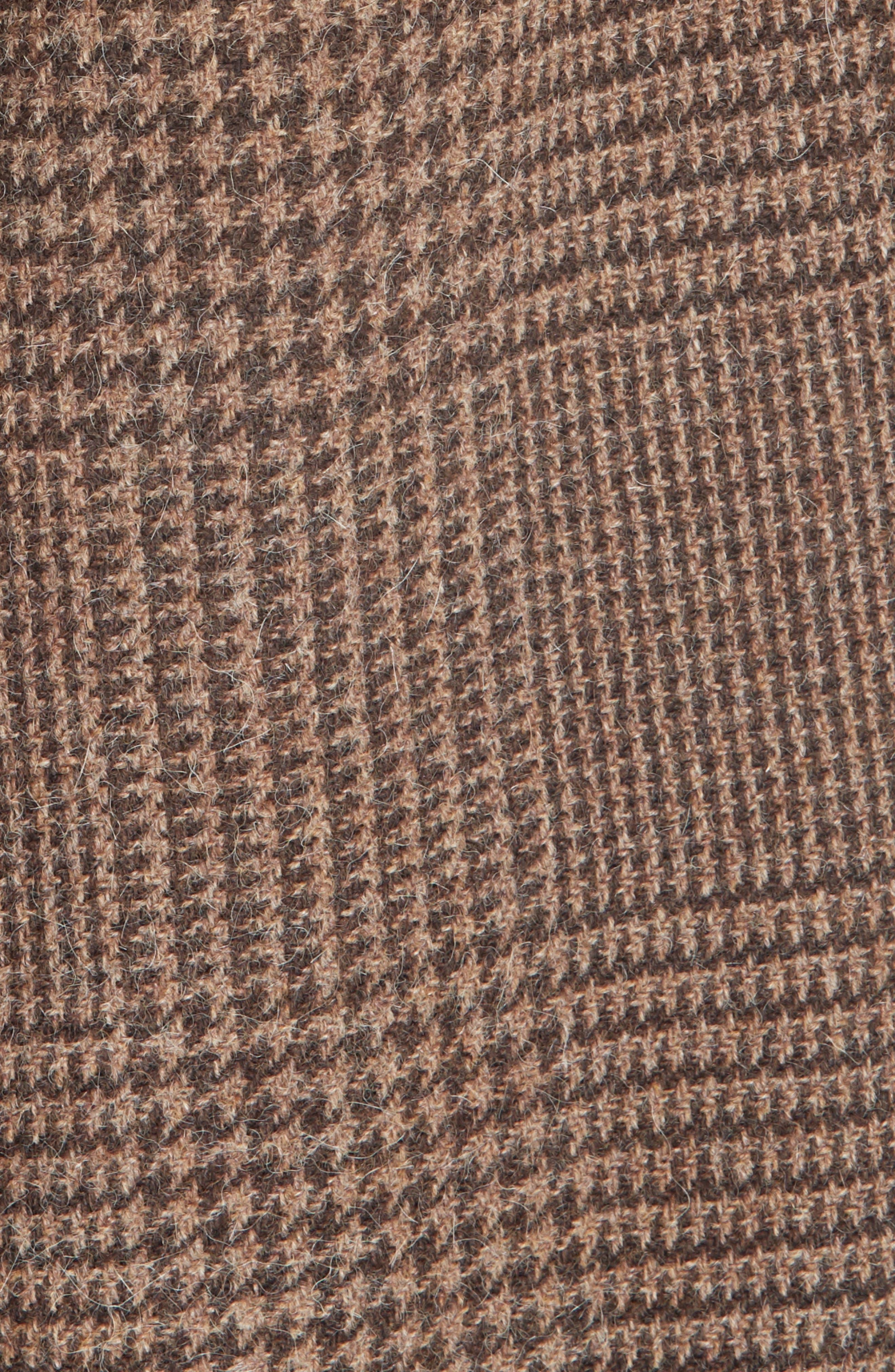 Plaid Lambswool & Alpaca Belted Coat,                             Alternate thumbnail 6, color,                             BROWN GLEN PLAID