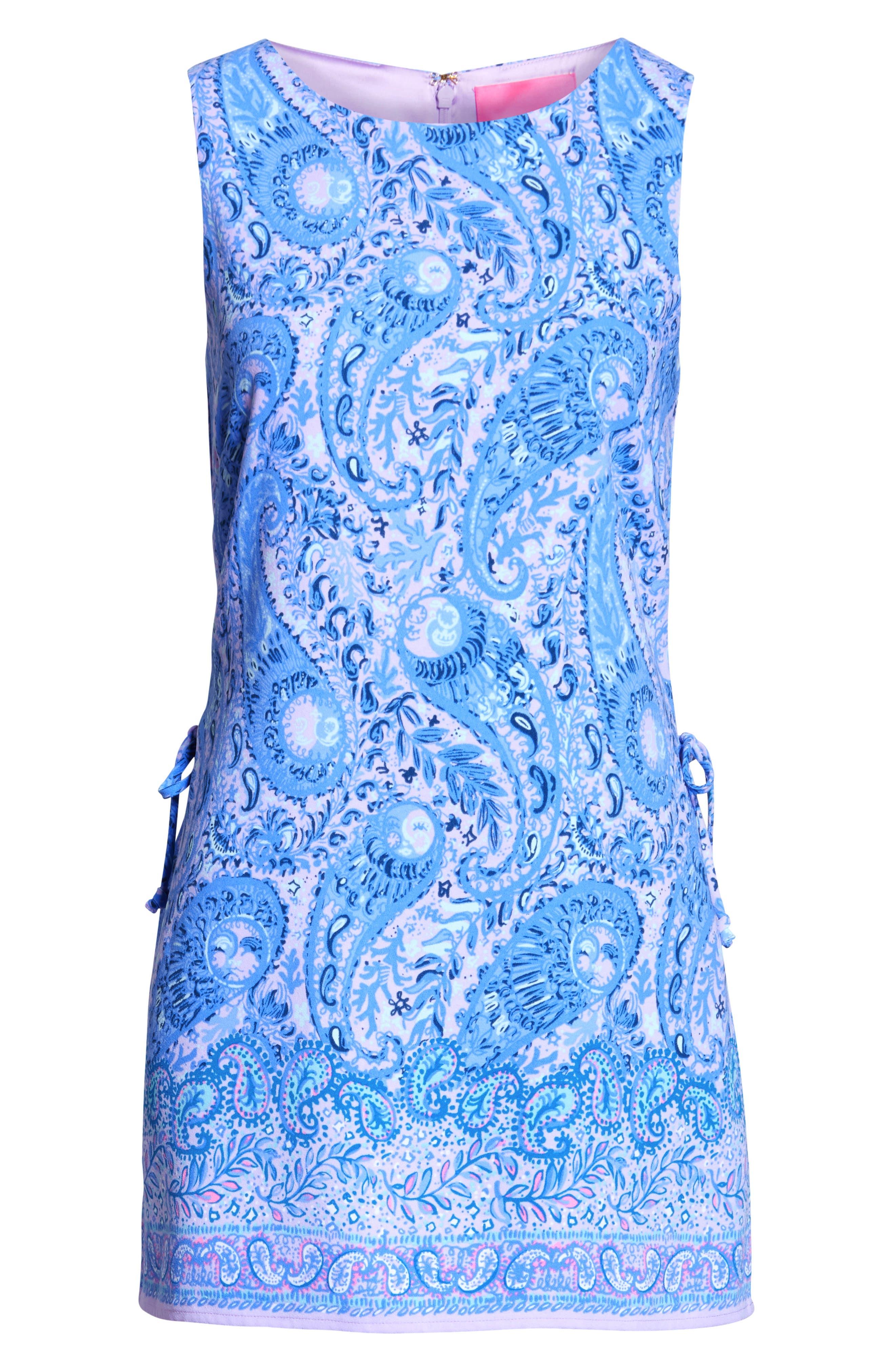 Donna Romper Dress,                             Alternate thumbnail 6, color,                             PURPLE IRIS HELLO SUNSHINE