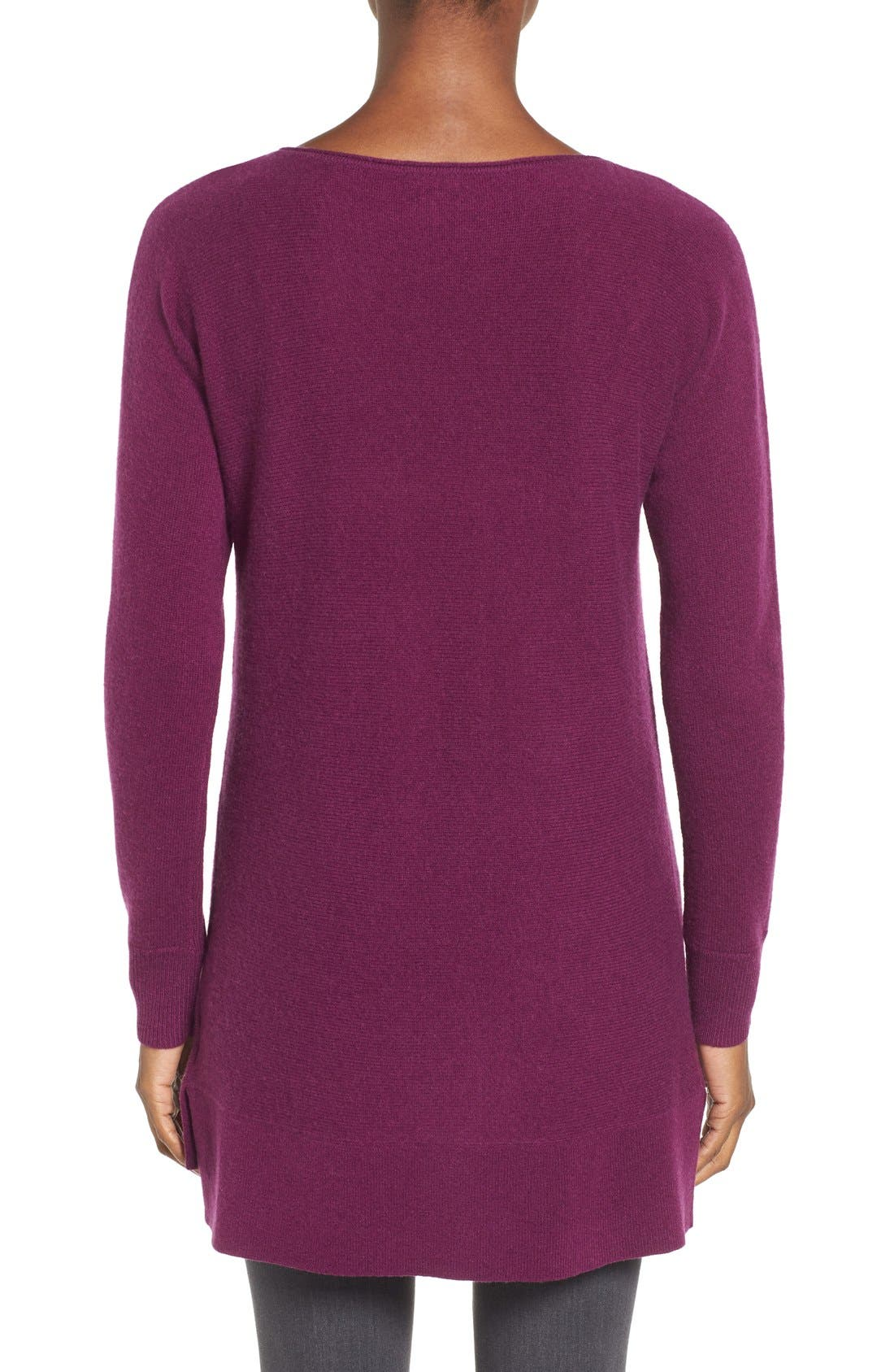 High/Low Wool & Cashmere Tunic Sweater,                             Alternate thumbnail 30, color,