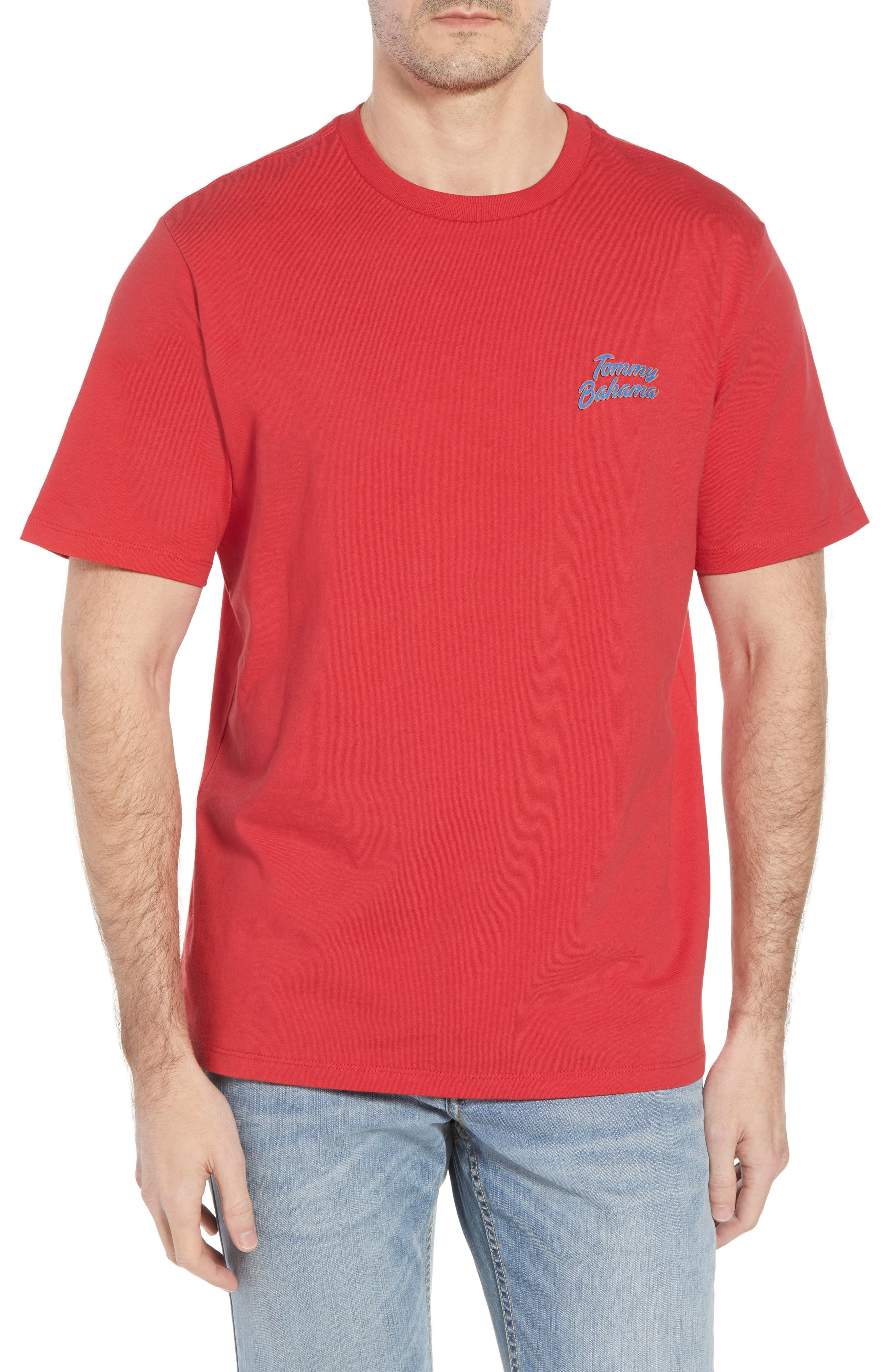 Thirst Base Graphic T-Shirt,                             Main thumbnail 1, color,                             LUCKY RED