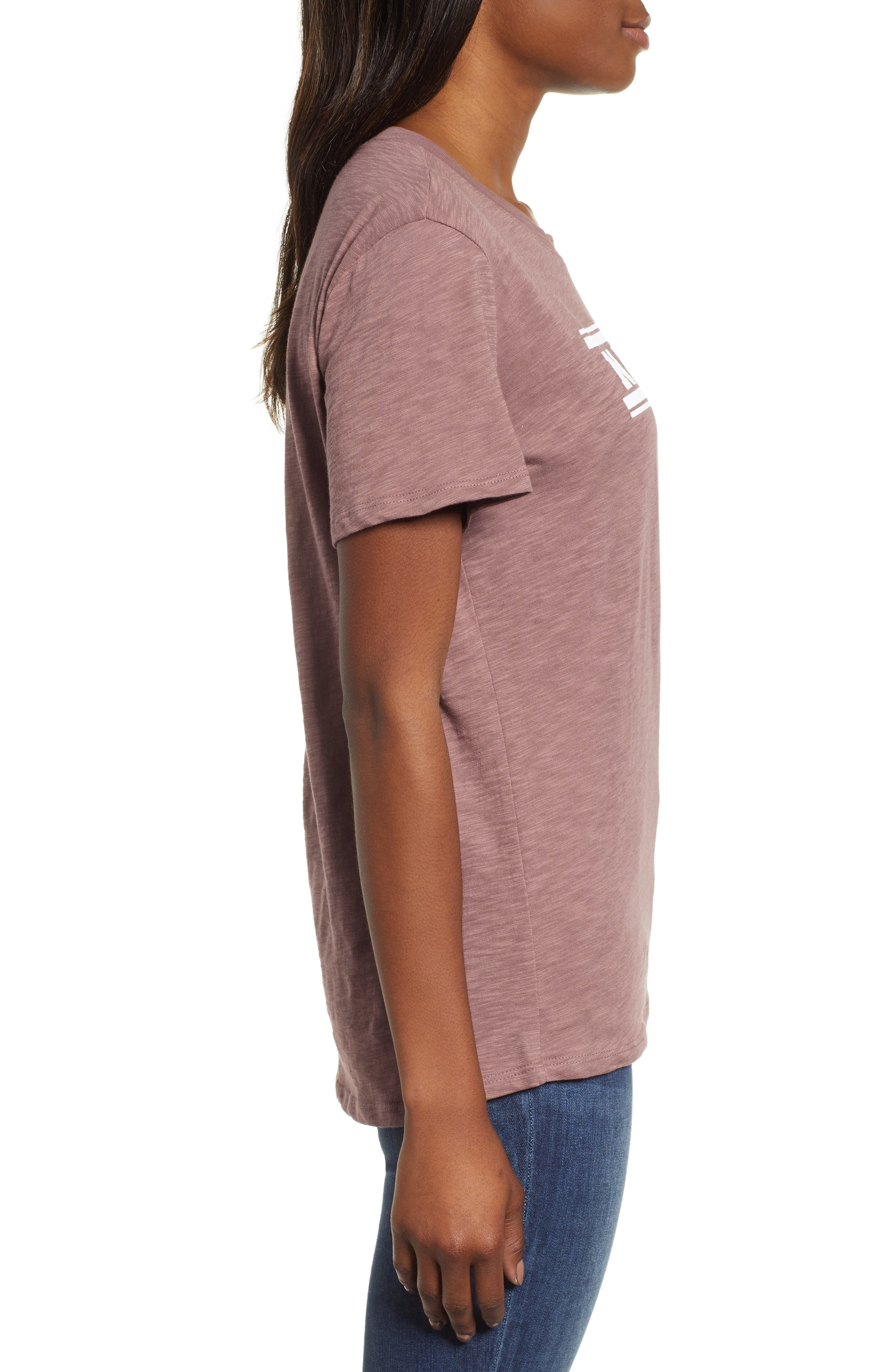 Off Duty Graphic Tee,                             Alternate thumbnail 3, color,                             PURPLE TAUPE