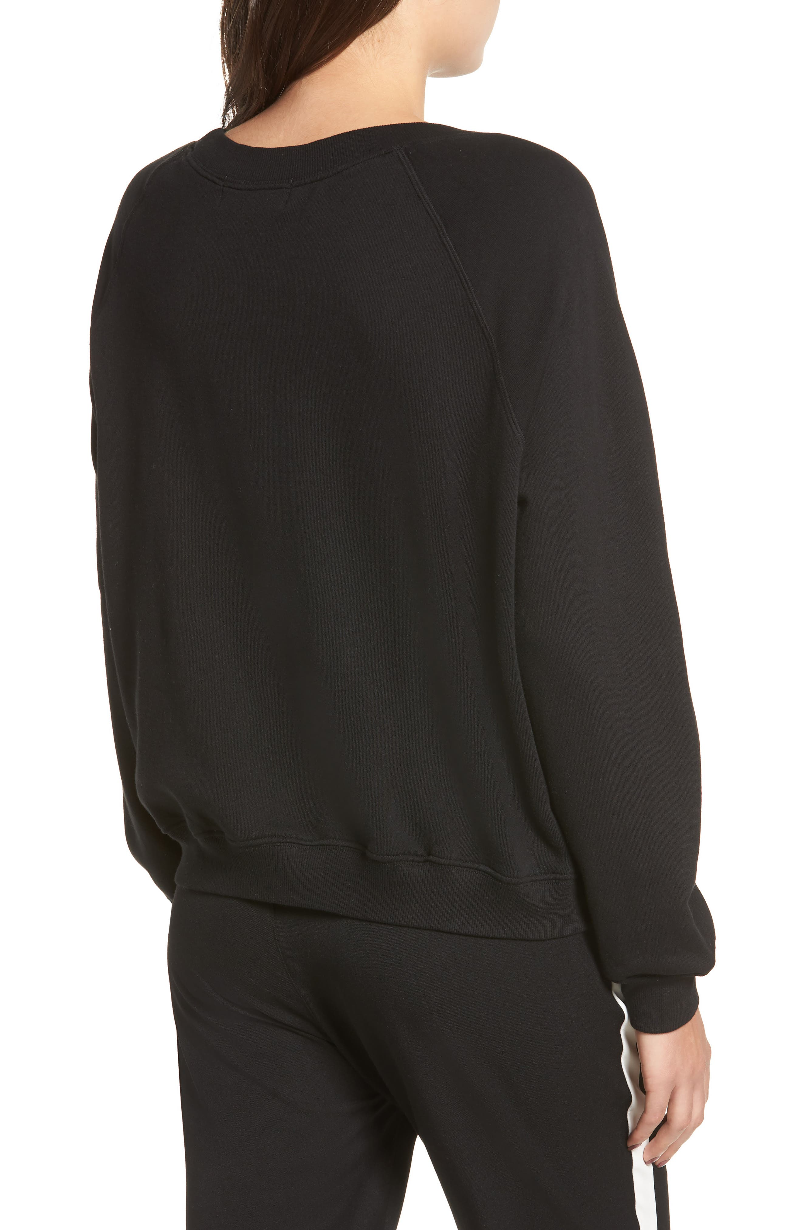 Beverly Hills Crest Sommers Sweatshirt,                             Alternate thumbnail 2, color,                             CLEAN BLACK