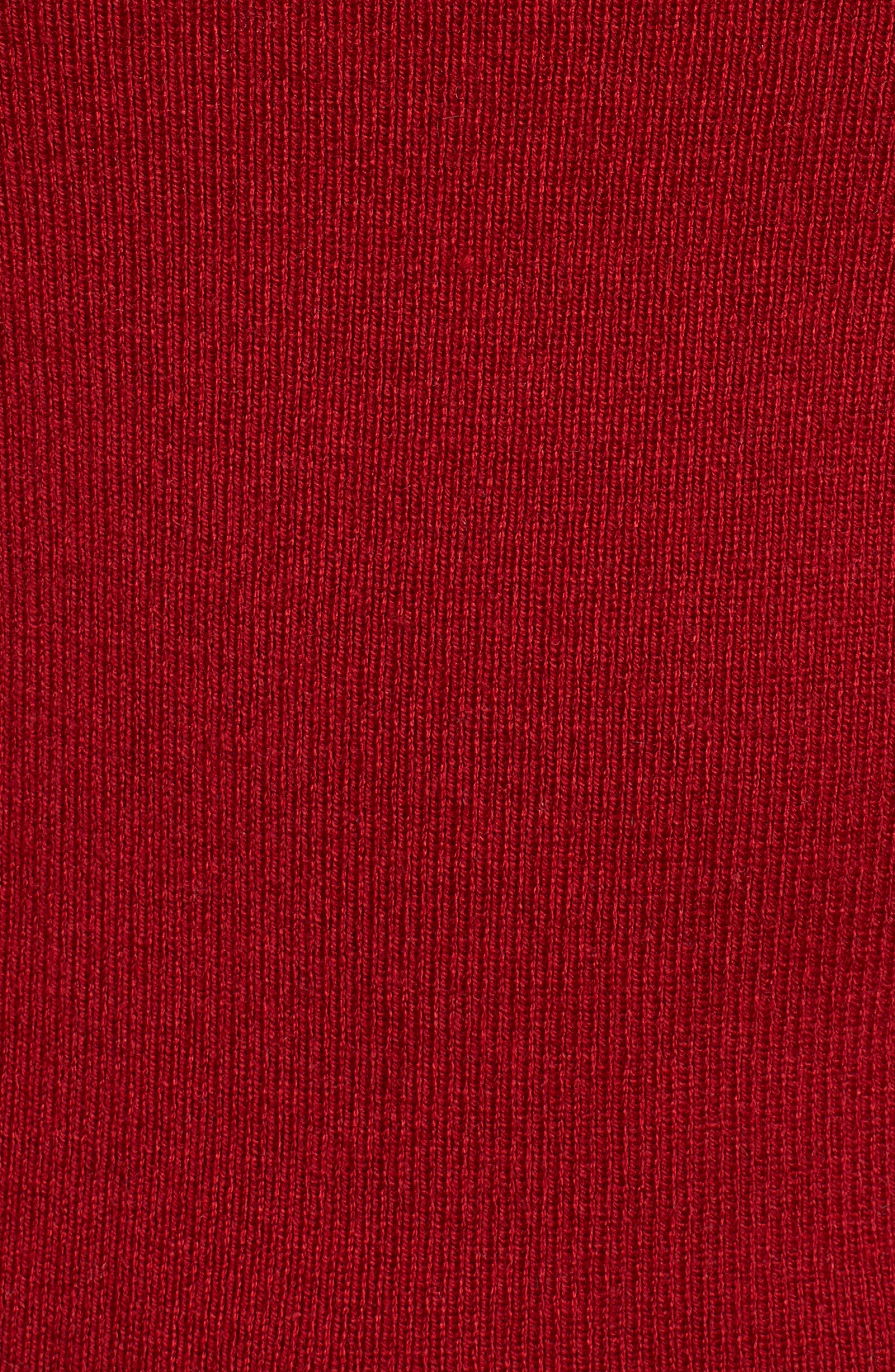 Tina Ruffle Cuff Sweater,                             Alternate thumbnail 5, color,