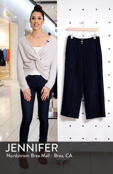 Stripe Wide Leg Crop Suit Pants, sales video thumbnail