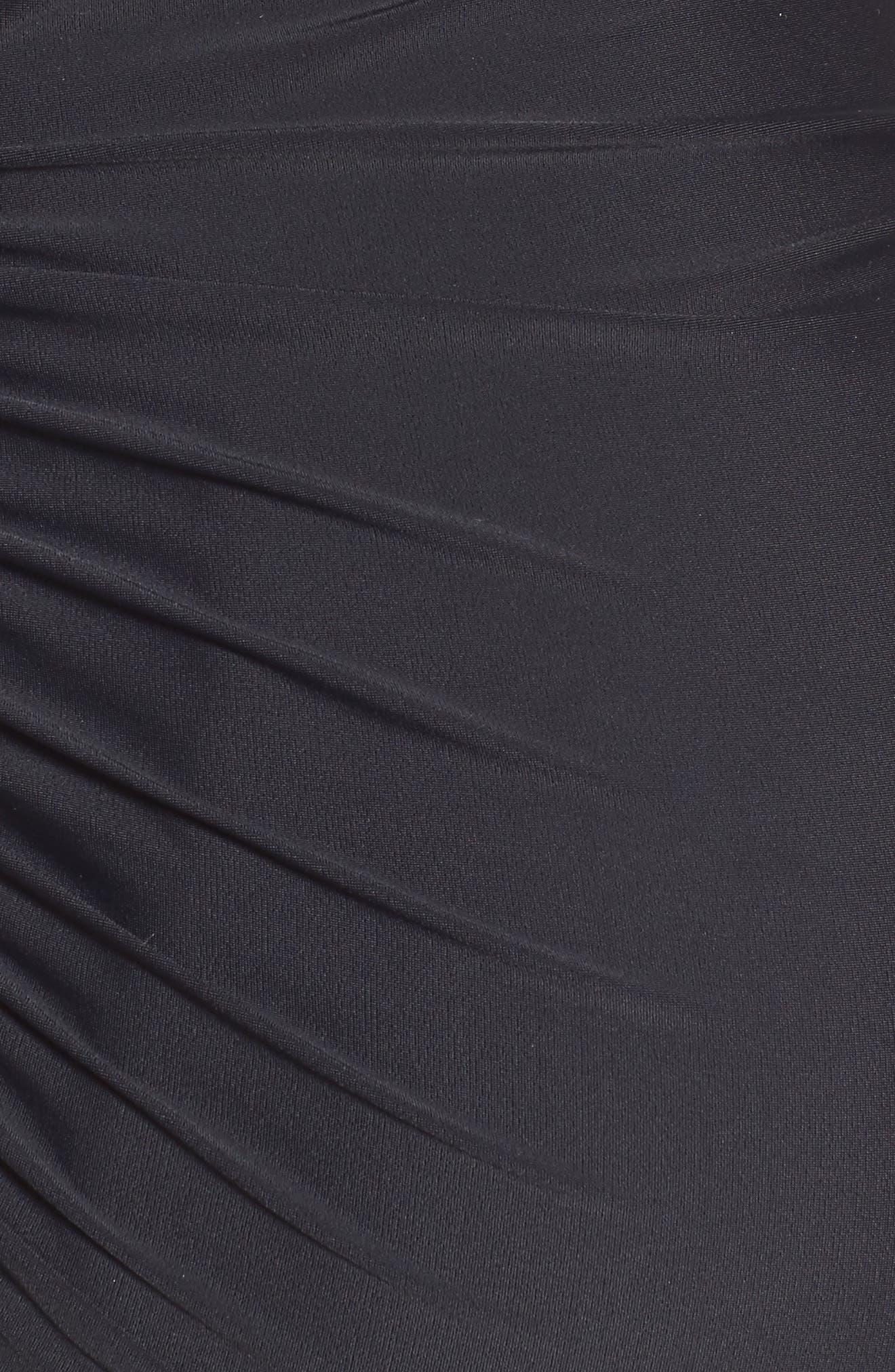 Ruched Maternity Tankini Swimsuit,                             Alternate thumbnail 6, color,                             BLACK