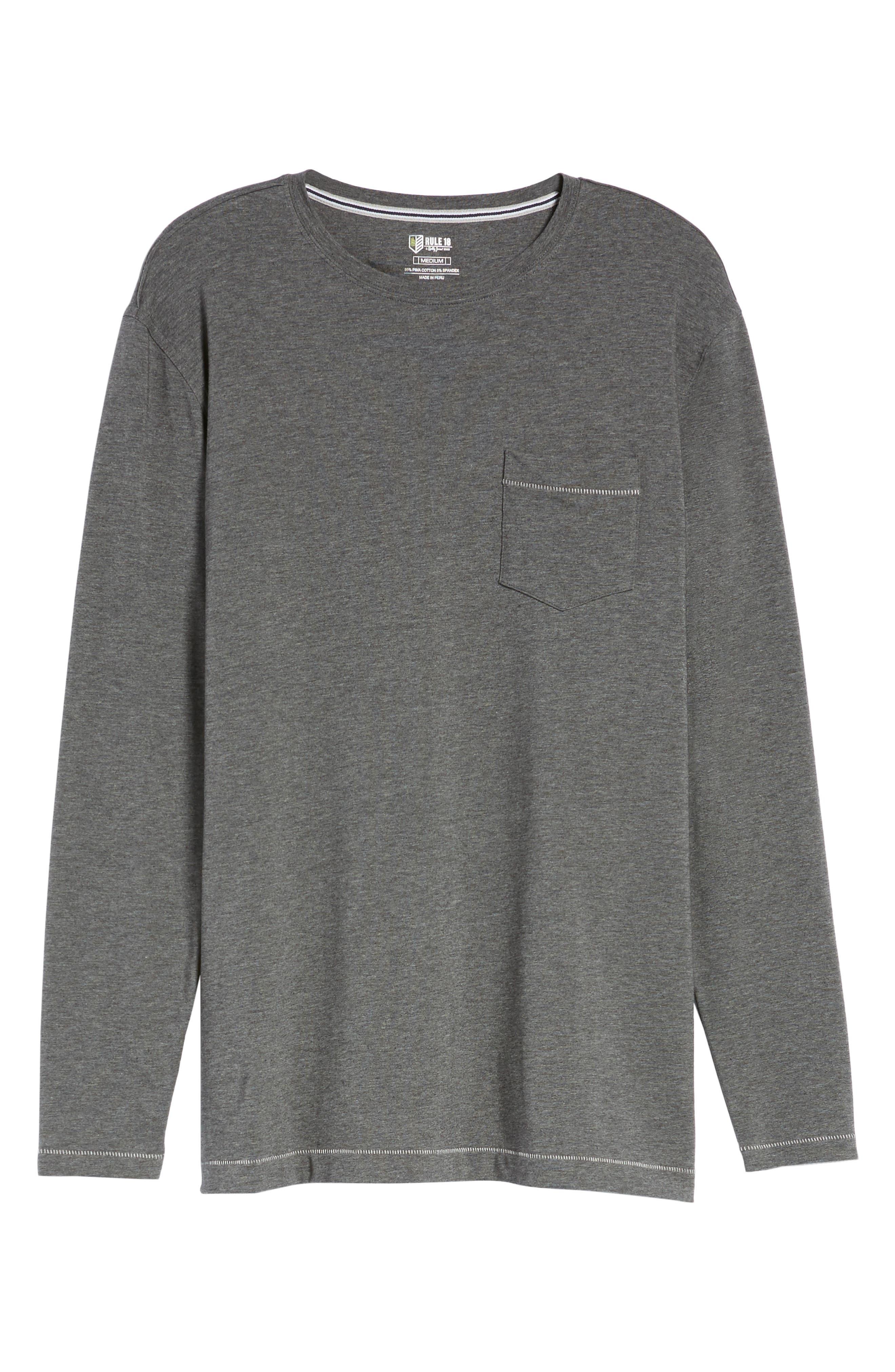 Rule 18 Essential Crewneck T-Shirt,                             Alternate thumbnail 6, color,                             020
