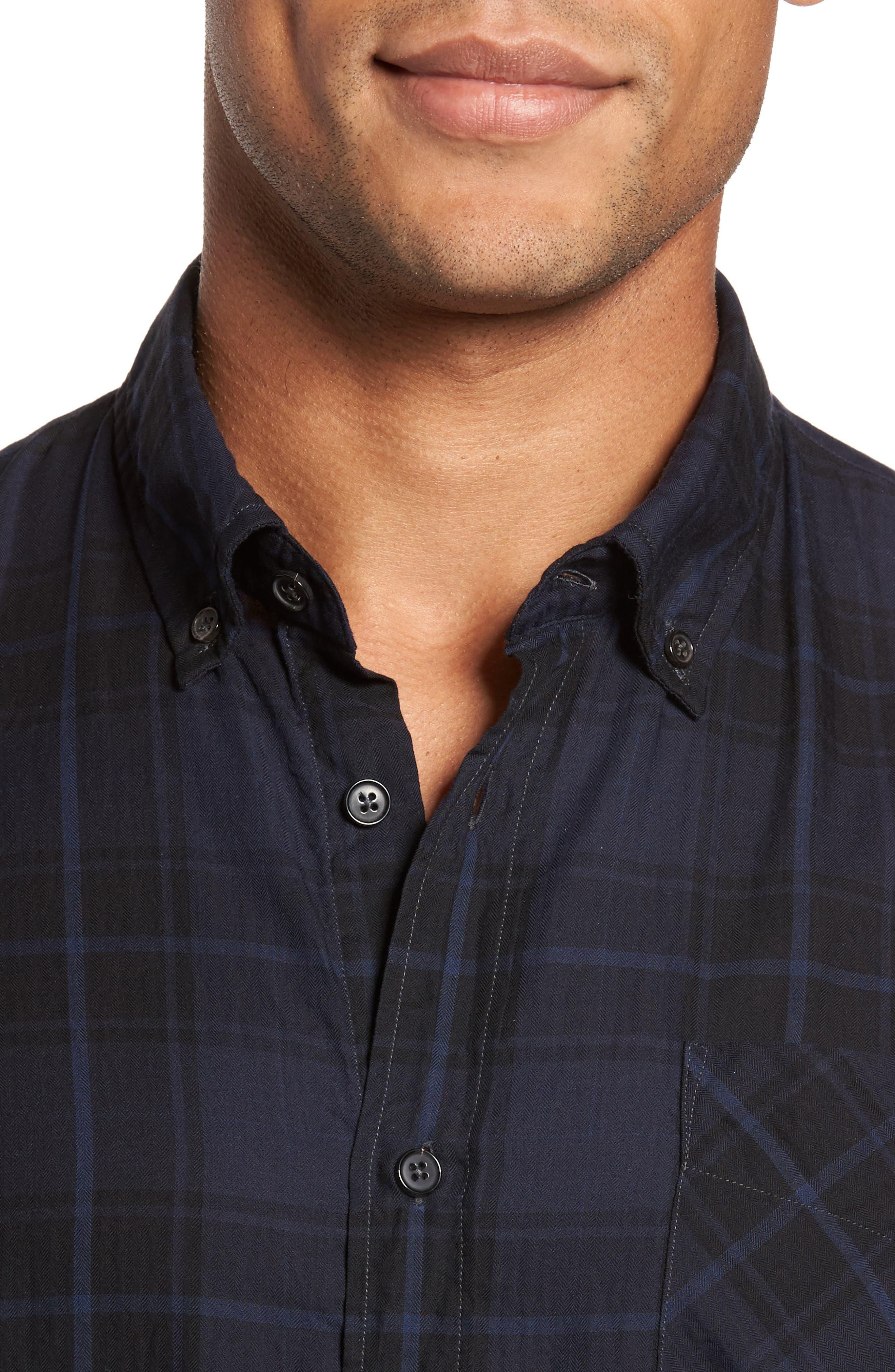 Wallace Slim Fit Sport Shirt,                             Alternate thumbnail 7, color,