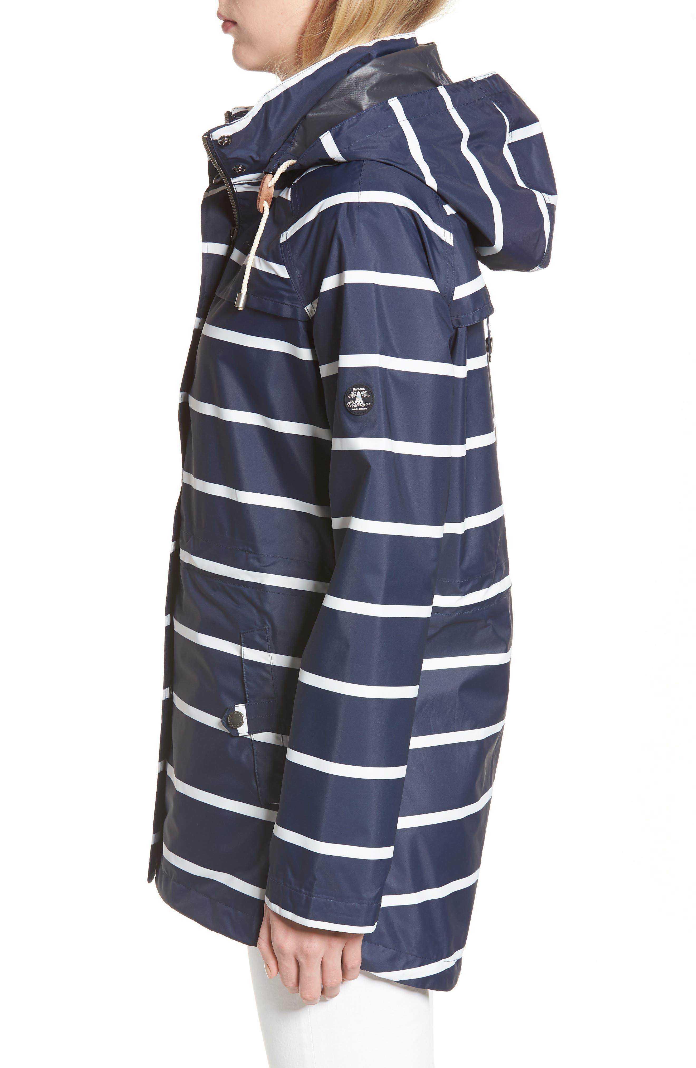 Holliwell Stripe Hooded Jacket,                             Alternate thumbnail 3, color,                             410
