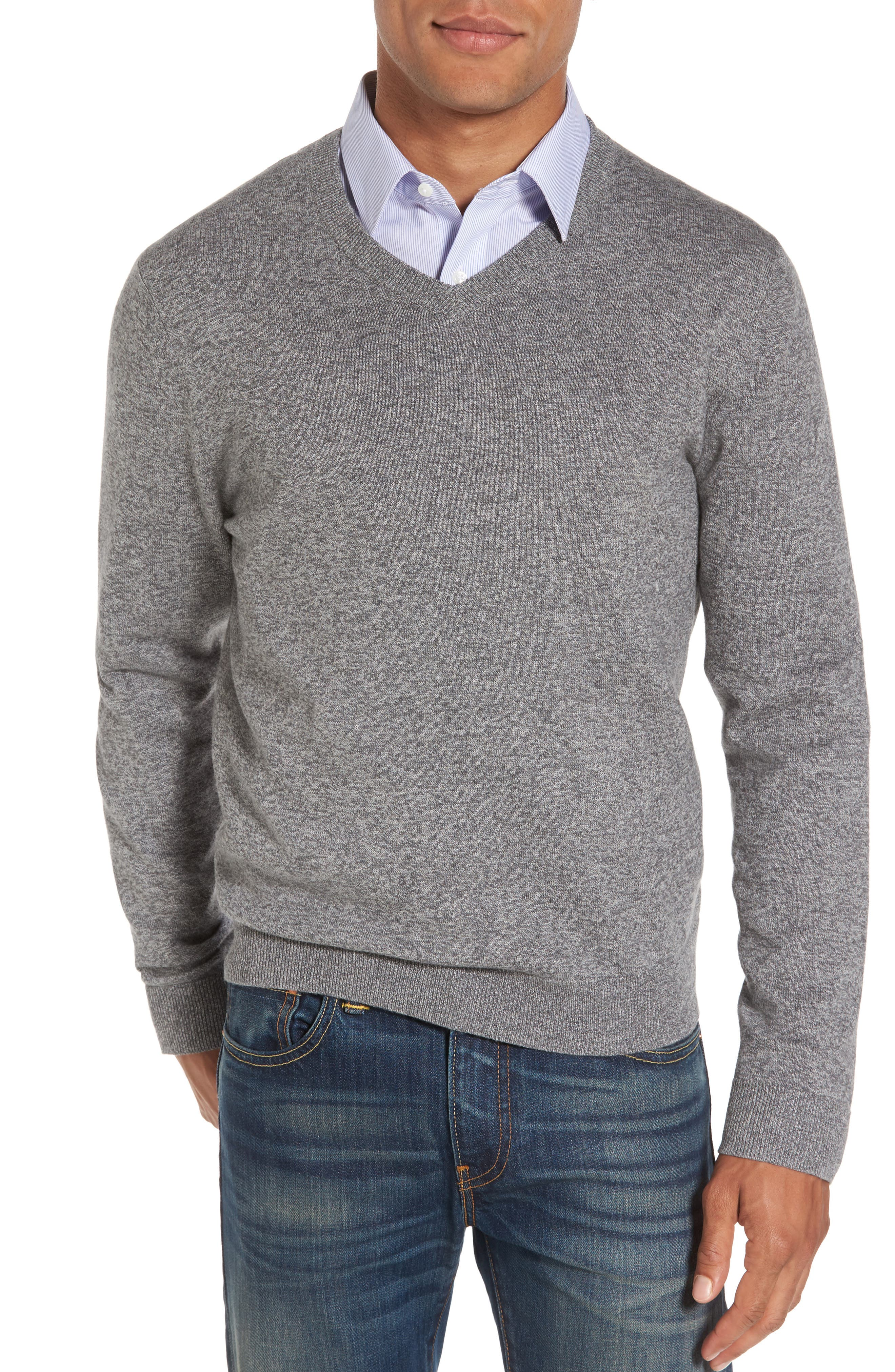 V-Neck Sweater,                             Main thumbnail 1, color,                             032
