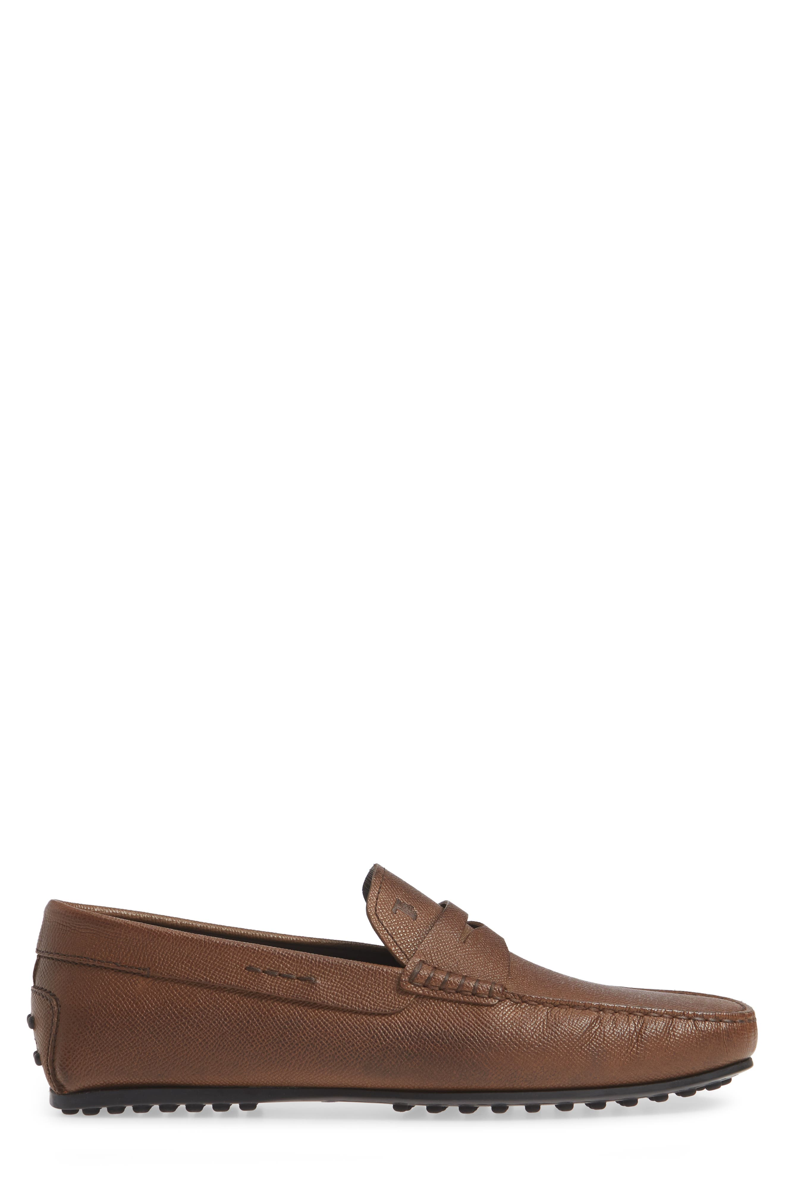 TOD'S,                             'City' Penny Driving Shoe,                             Alternate thumbnail 3, color,                             BROWN