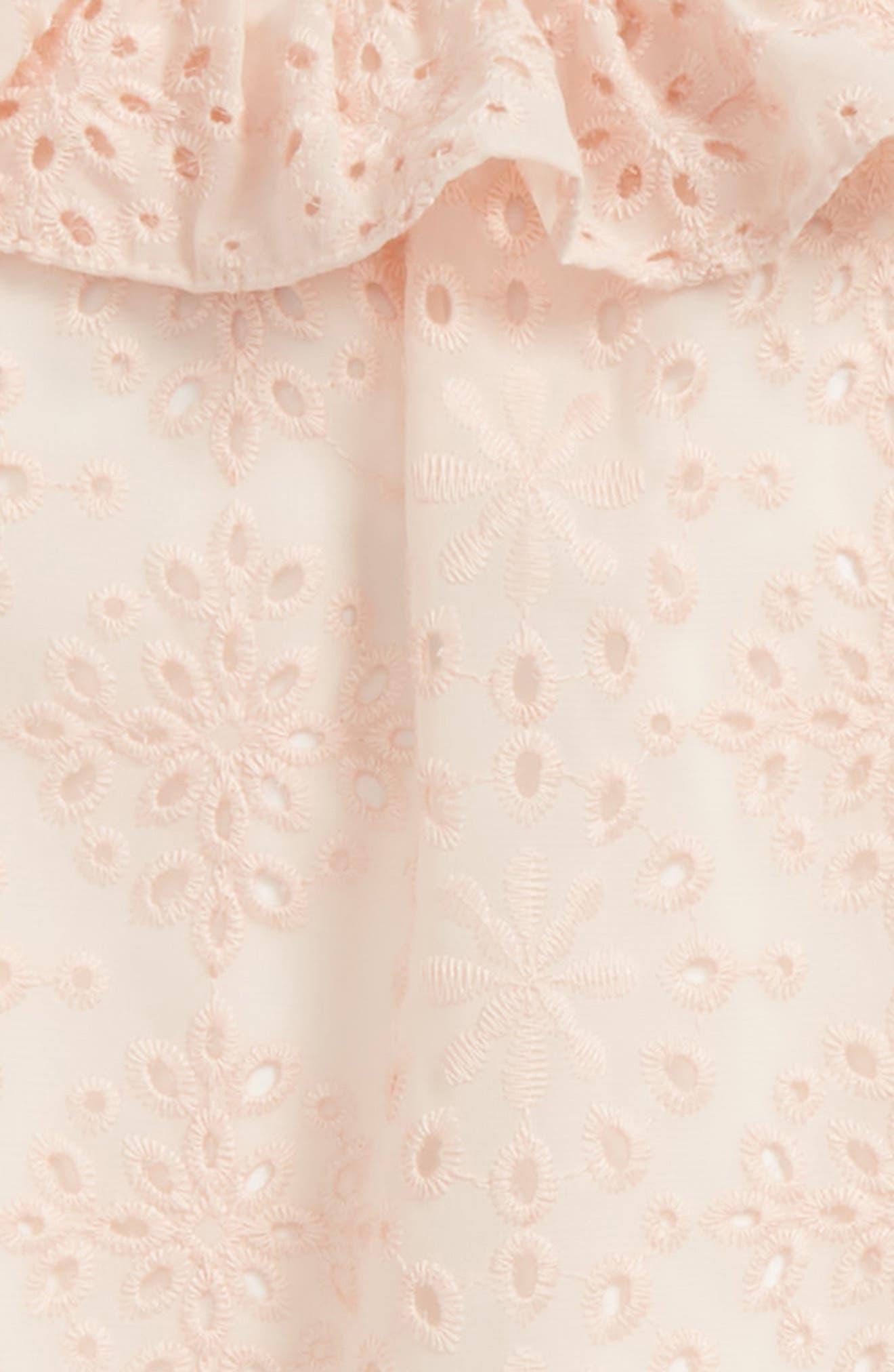 Back Bow Eyelet Dress,                             Alternate thumbnail 3, color,                             650