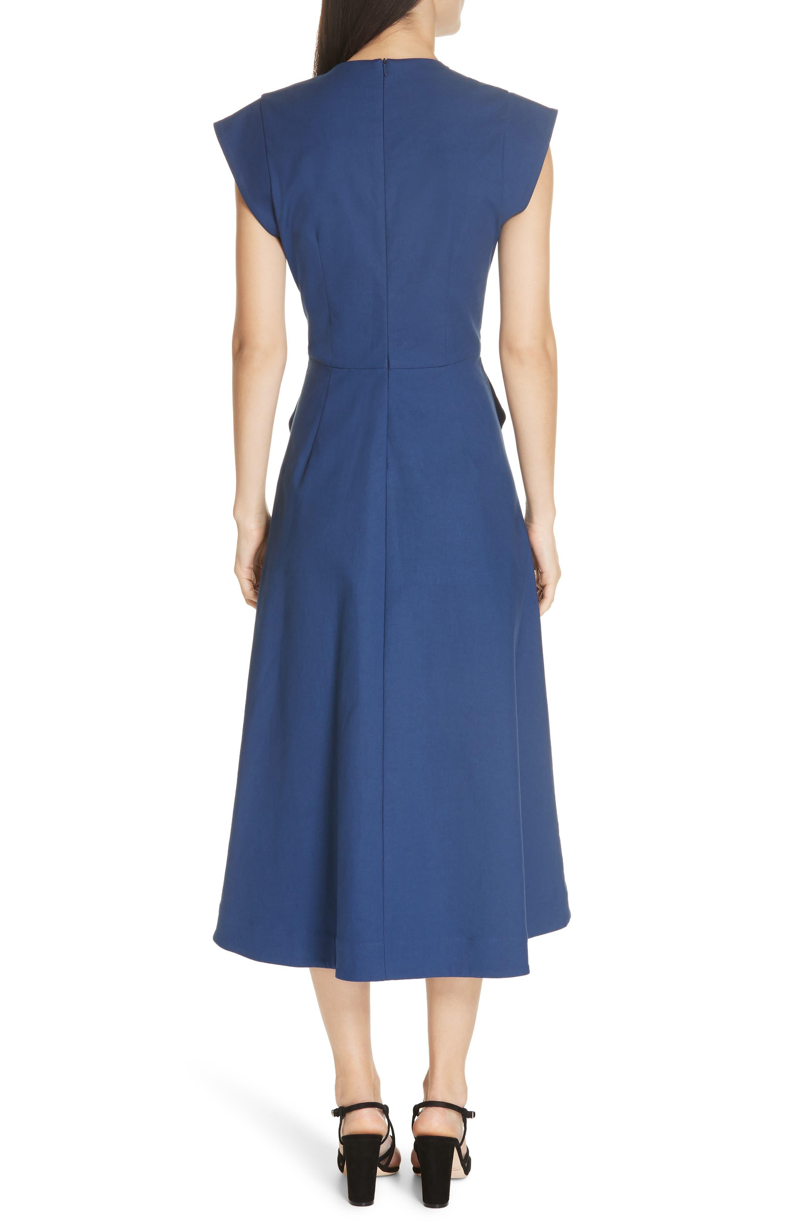 Lennox Belted Midi Dress,                             Alternate thumbnail 2, color,                             BLUE