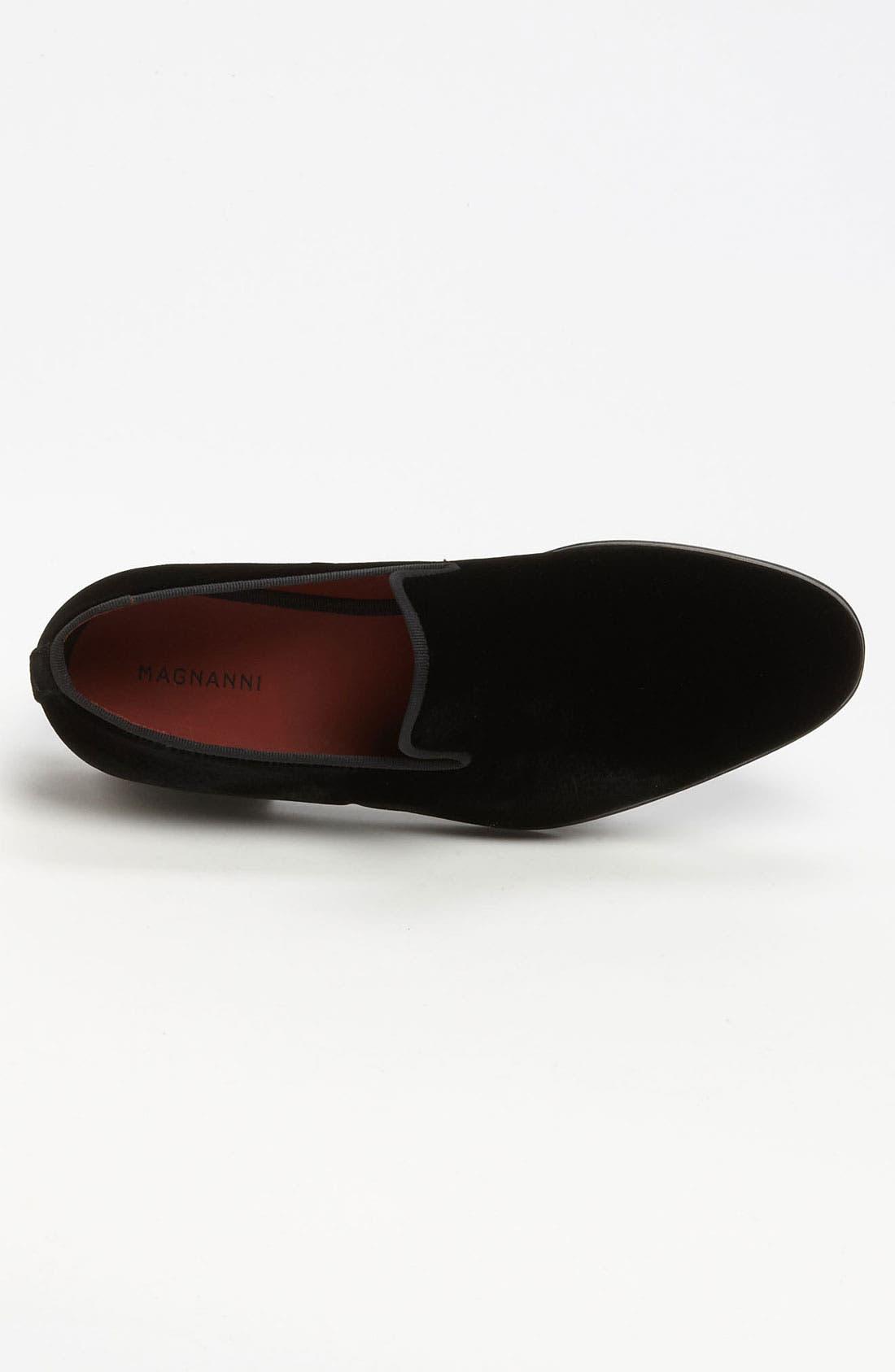 'Dorio' Velvet Venetian Loafer,                             Alternate thumbnail 6, color,                             BLACK