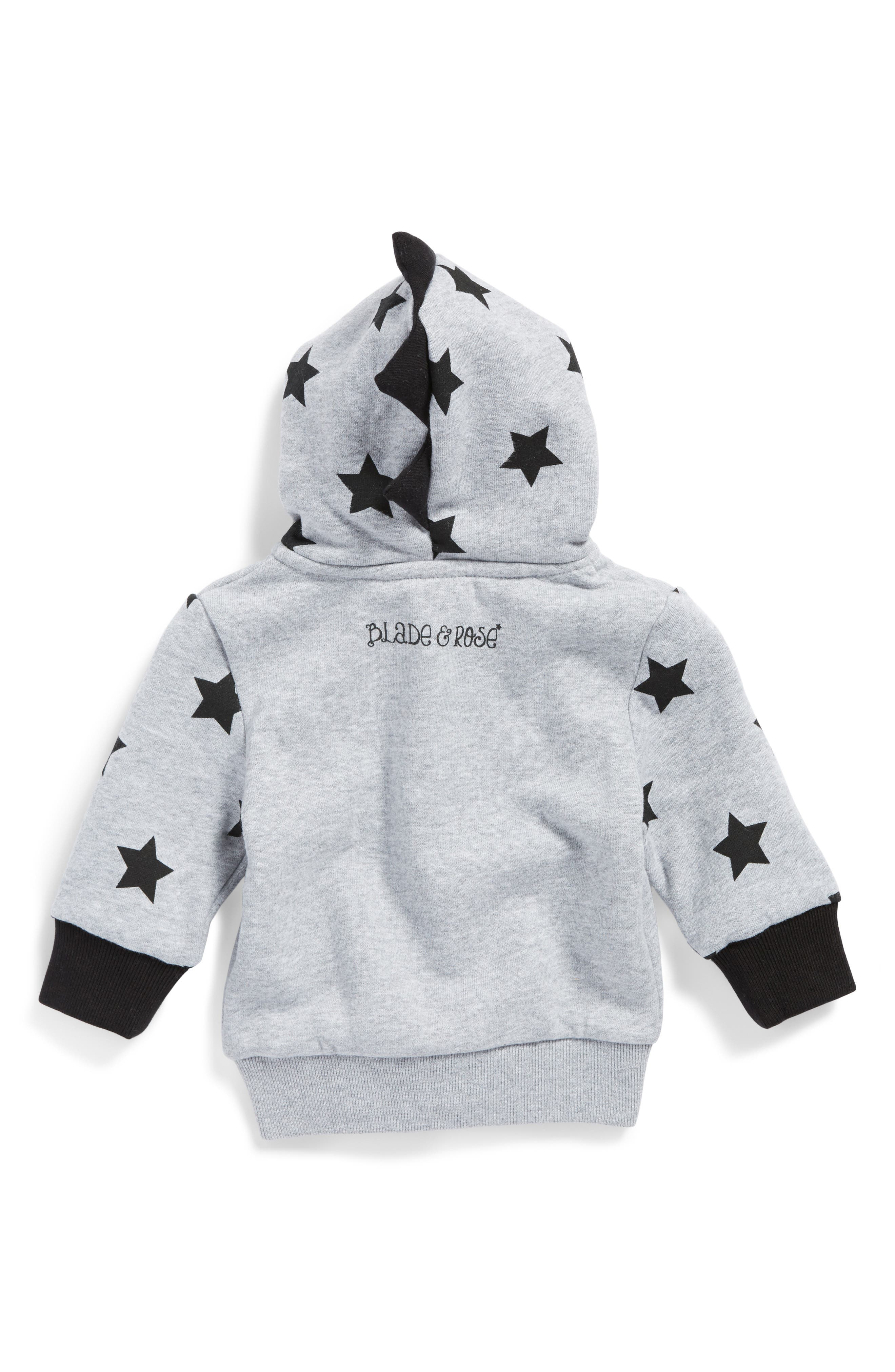 Star Print Hoodie,                             Alternate thumbnail 2, color,                             030