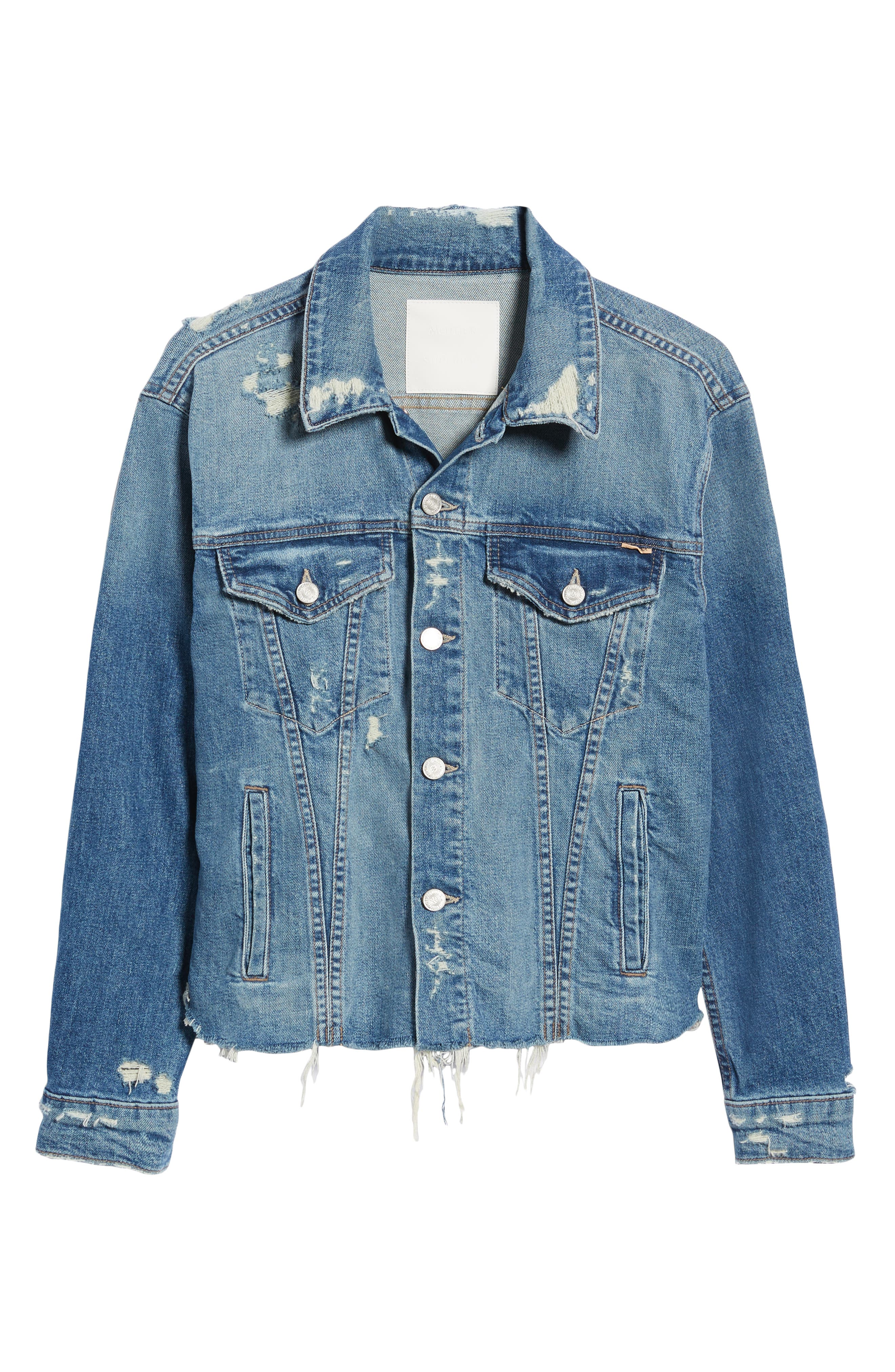 The Cut Denim Jacket,                             Alternate thumbnail 6, color,                             BETTER WHEN ITS WRONG