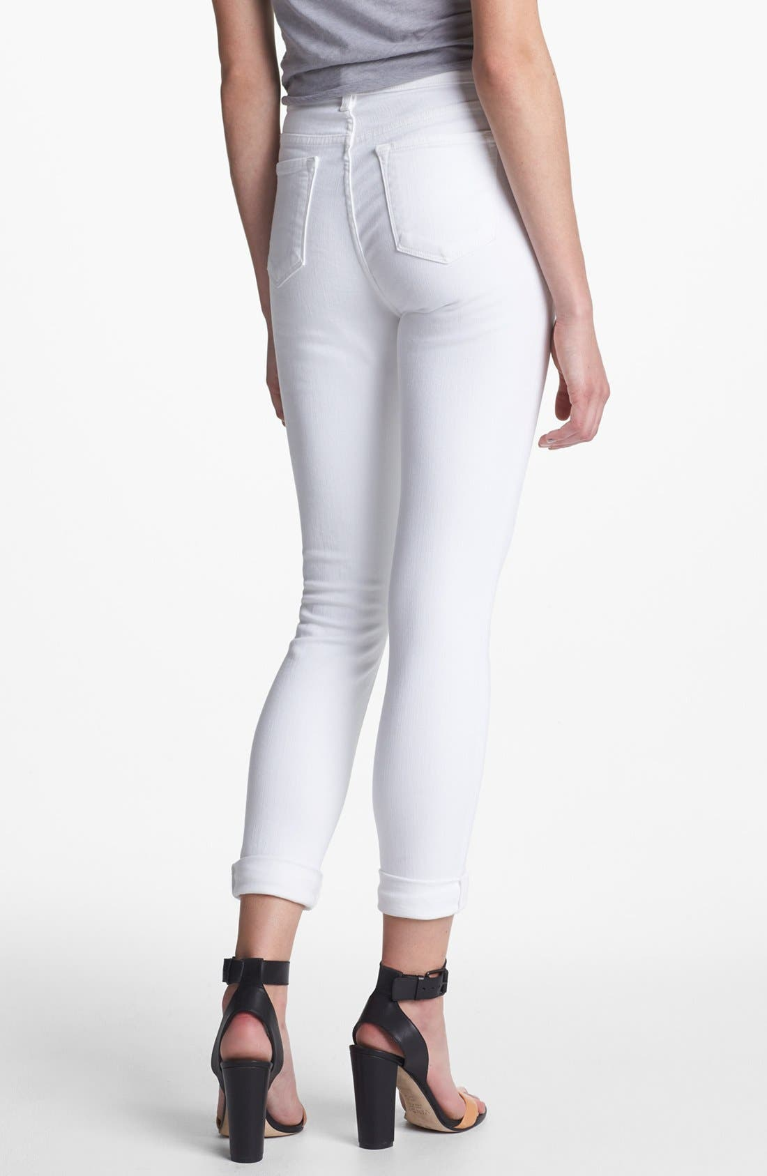 2311 Maria High Waist Super Skinny Jeans,                             Alternate thumbnail 7, color,                             BLANC