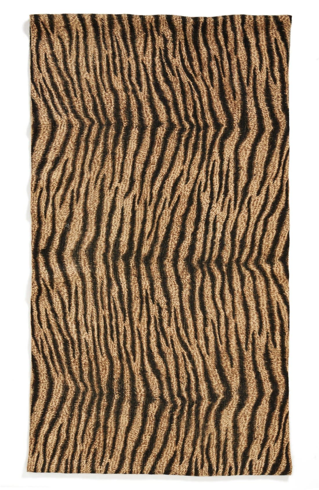 'Beobob' Tiger Print Infinity Scarf,                             Alternate thumbnail 3, color,                             200