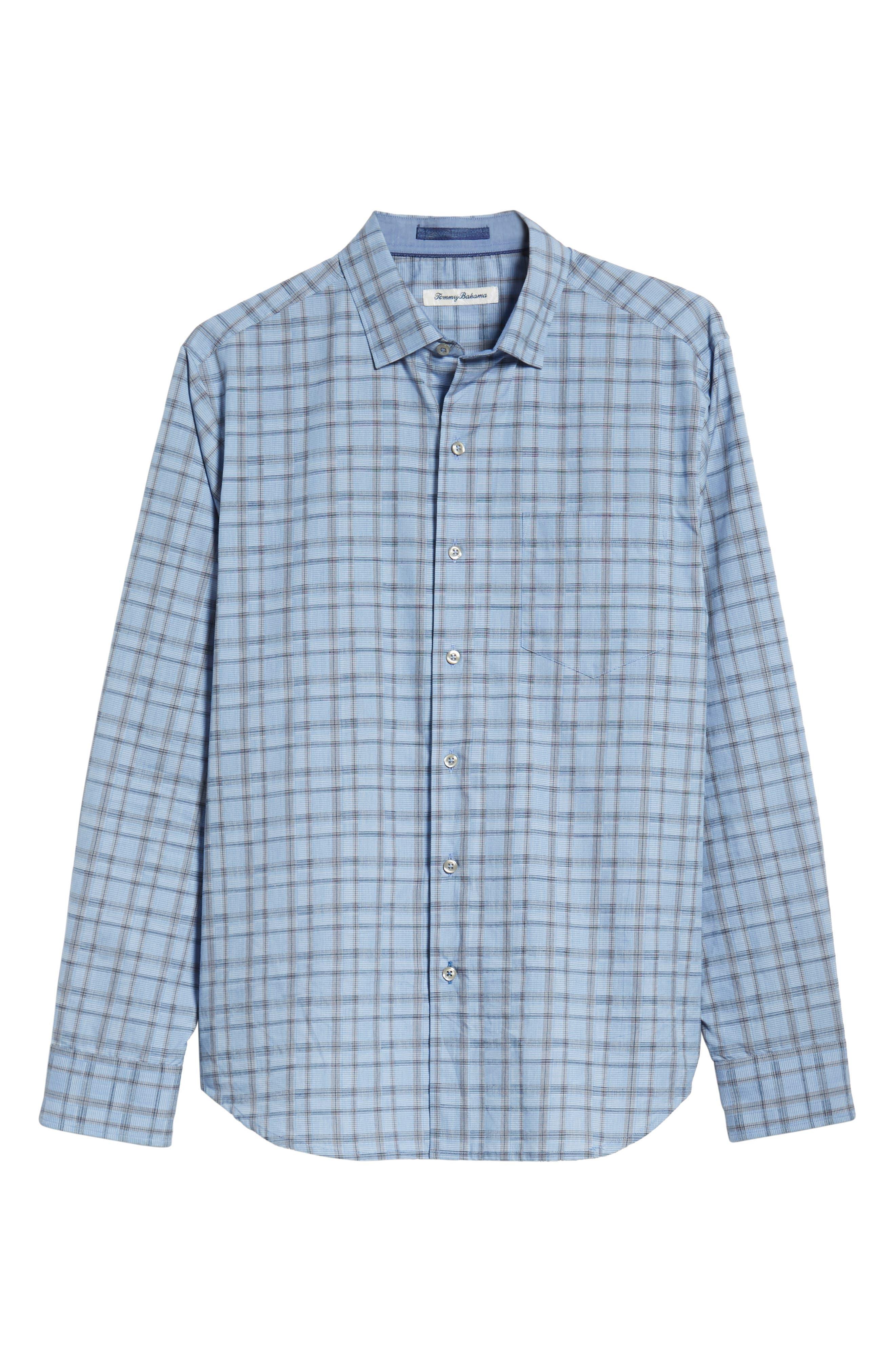 Caturra Check Sport Shirt,                             Alternate thumbnail 6, color,                             BLUE JEAN