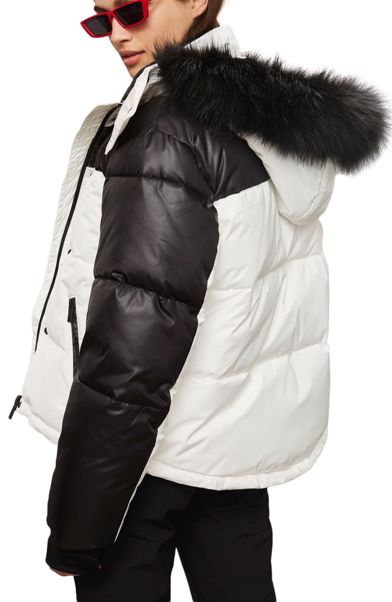 SNO Siren Ski Puffer Jacket,                             Alternate thumbnail 2, color,                             100