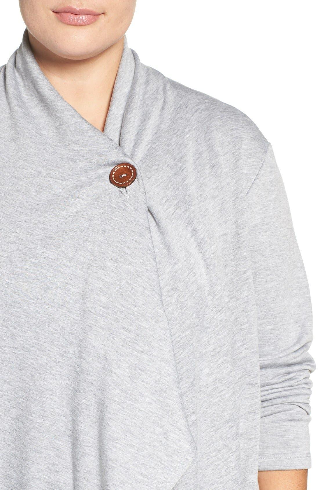 One-Button Fleece Cardigan,                             Alternate thumbnail 218, color,