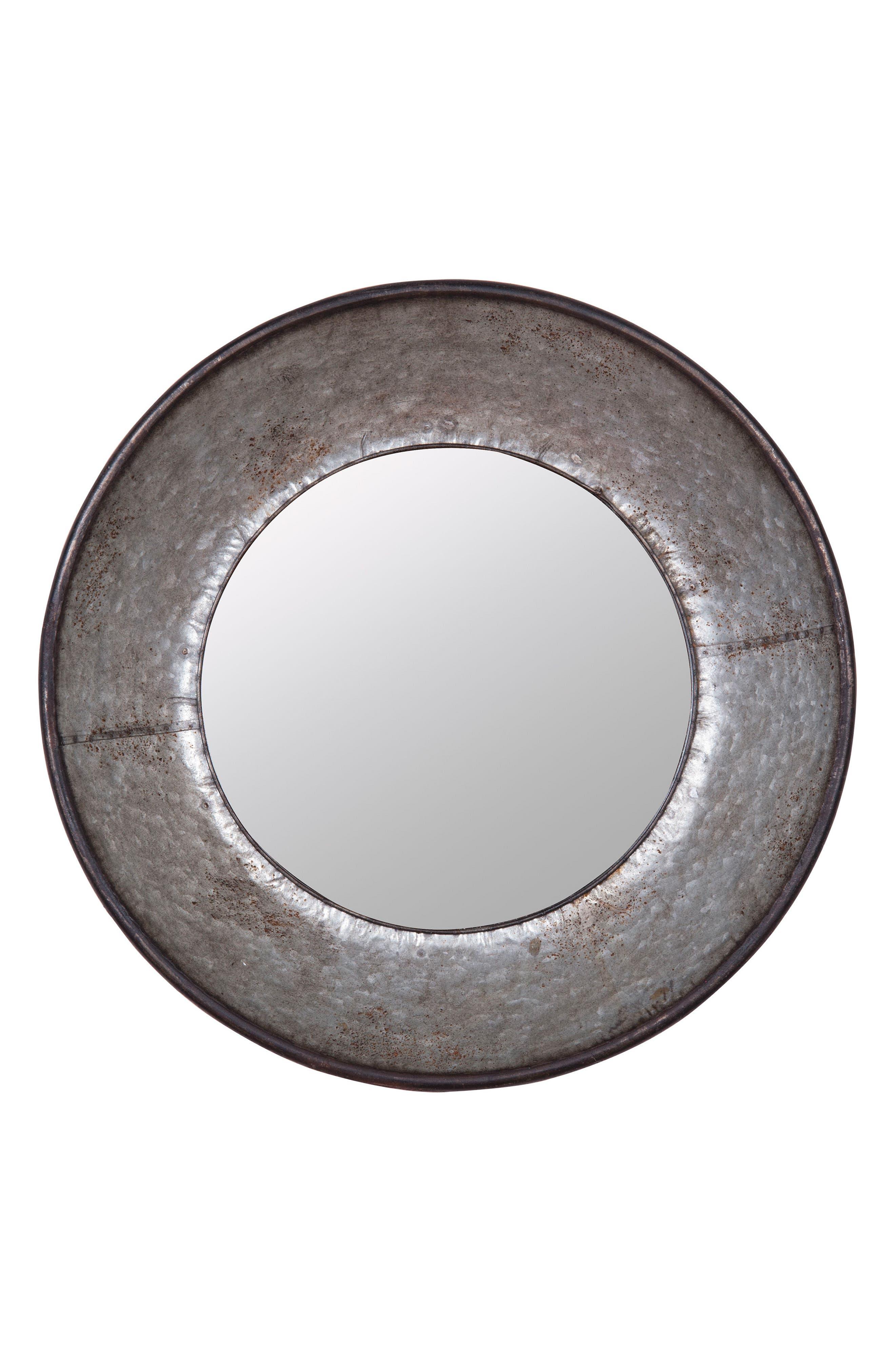 Frisco Round Mirror,                             Main thumbnail 1, color,                             METAL