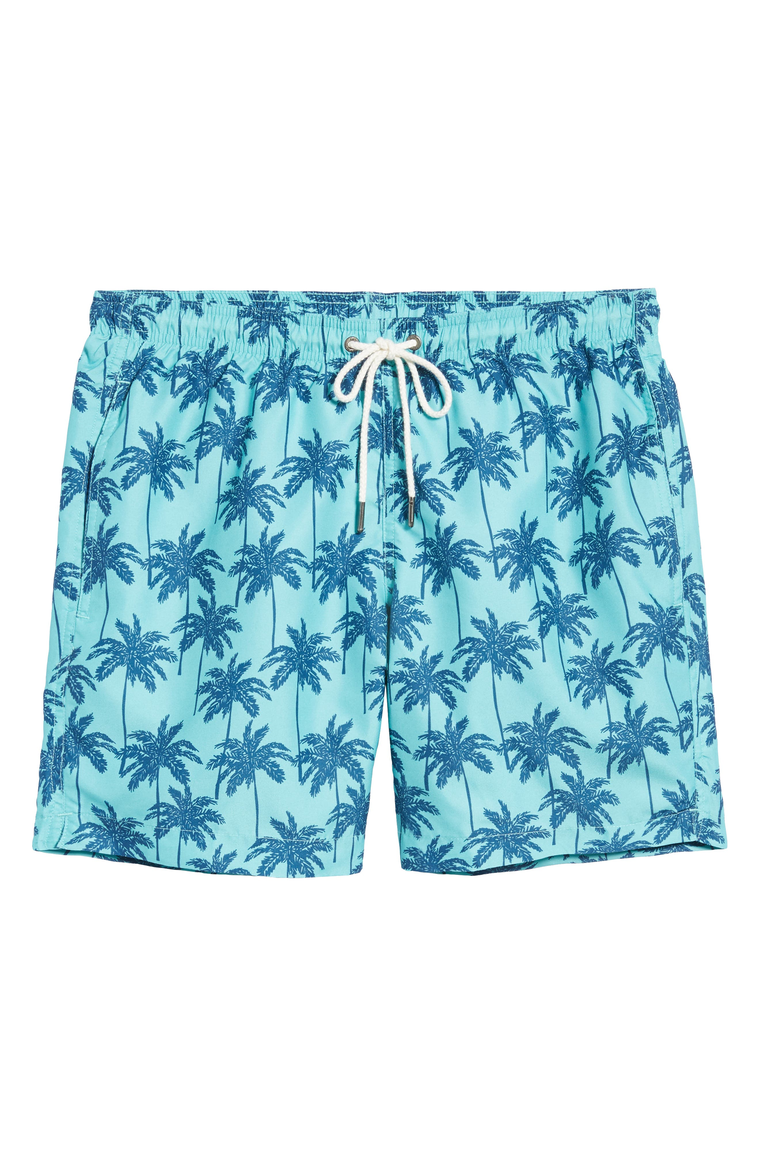 Cabo Palm Trees 6.5 Inch Swim Trunks,                             Alternate thumbnail 6, color,                             443