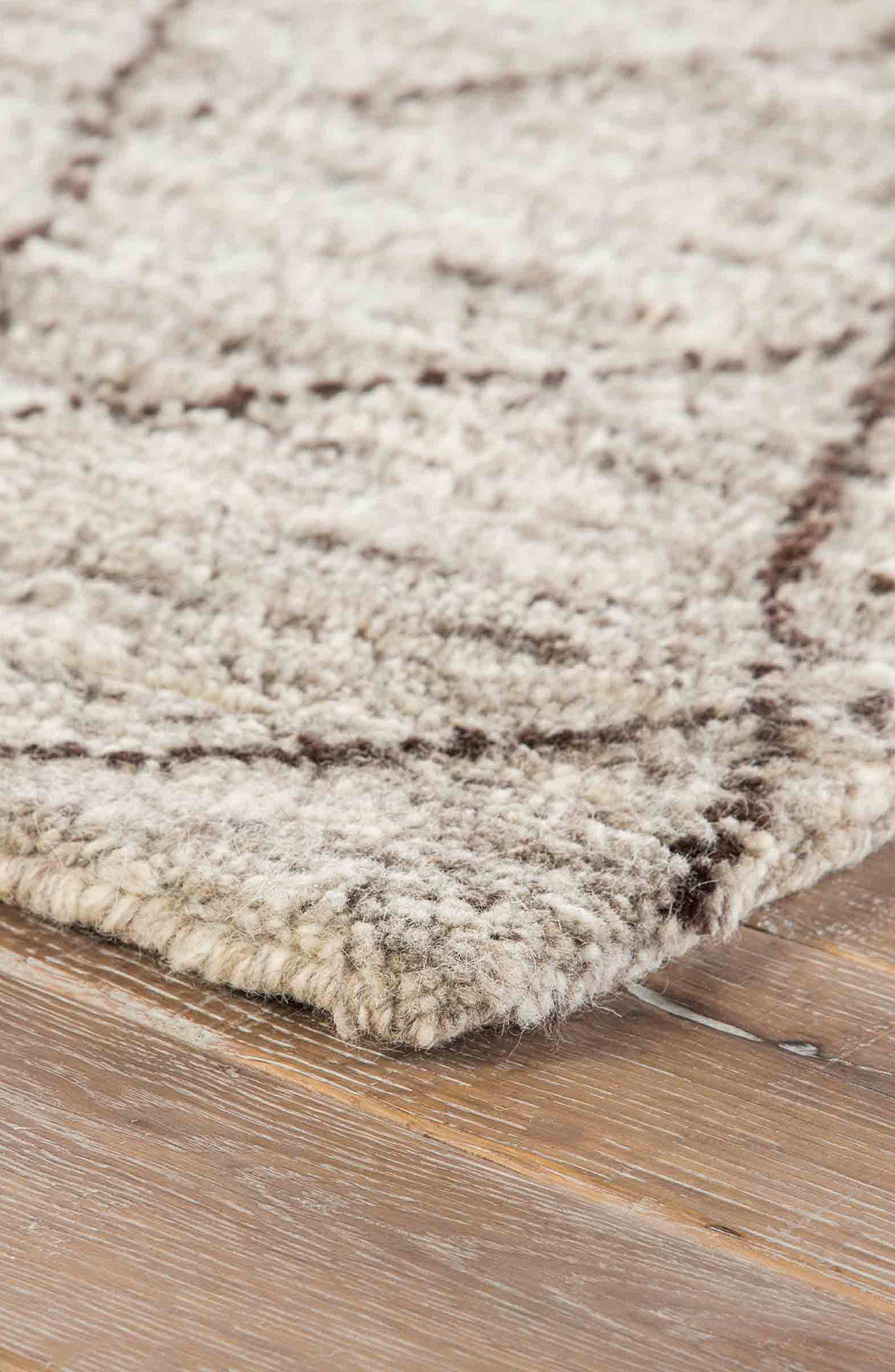 'Zola' Hand Knotted Wool Rug,                             Alternate thumbnail 5, color,                             NATURAL/ BROWN