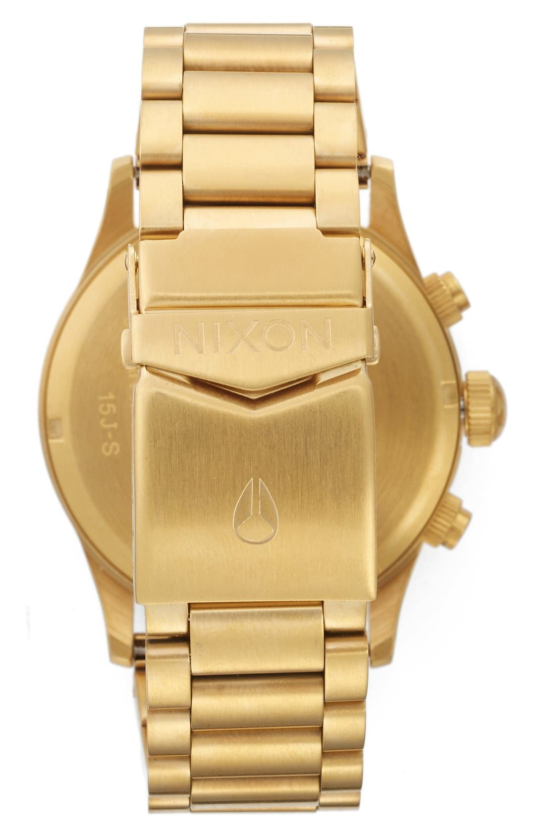 'The Sentry' Chronograph Bracelet Watch, 42mm,                             Alternate thumbnail 3, color,                             GOLD