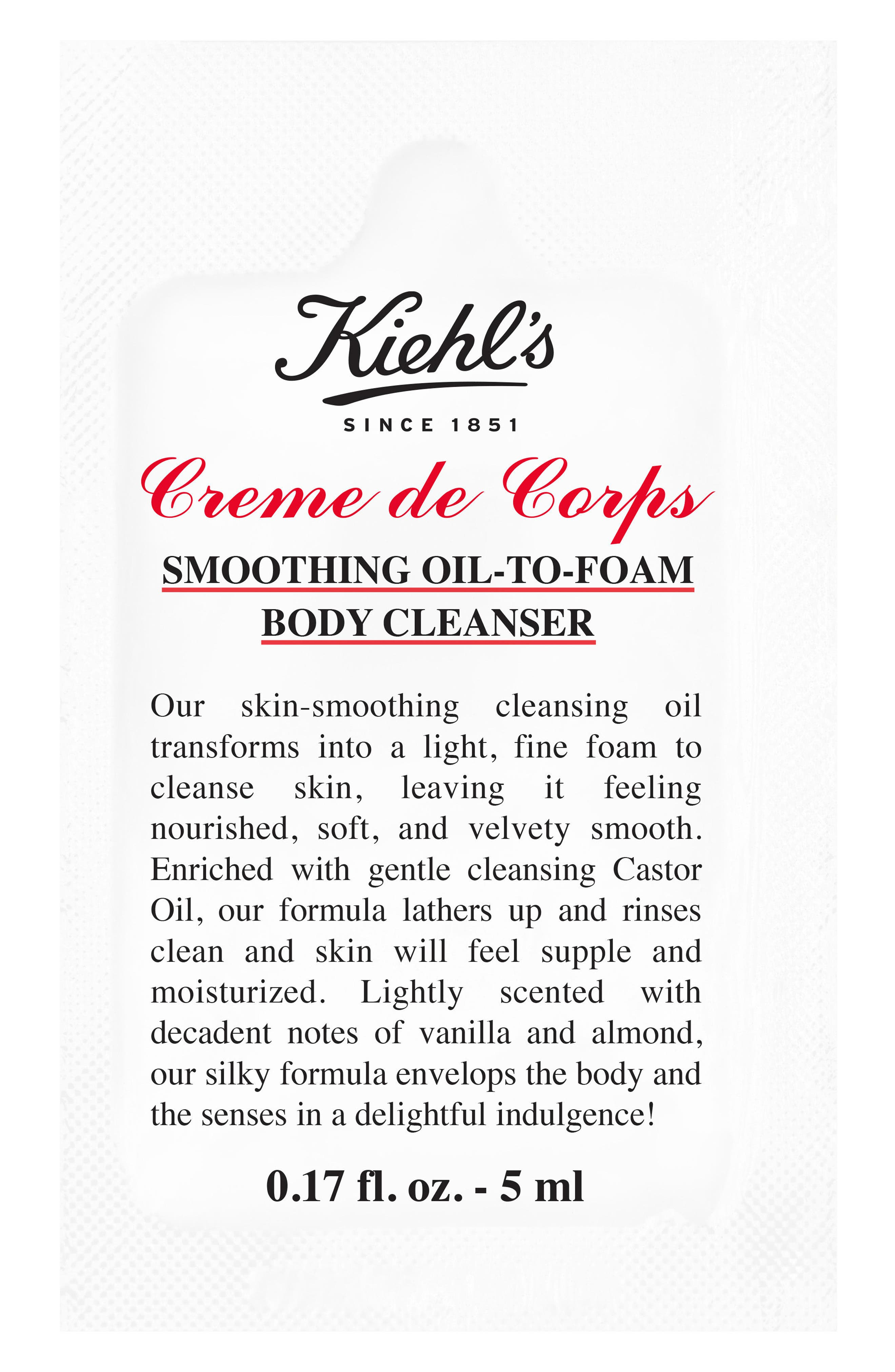 Creme de Corps Smoothing Oil-to-Foam Body Cleanser,                             Alternate thumbnail 3, color,                             NO COLOR