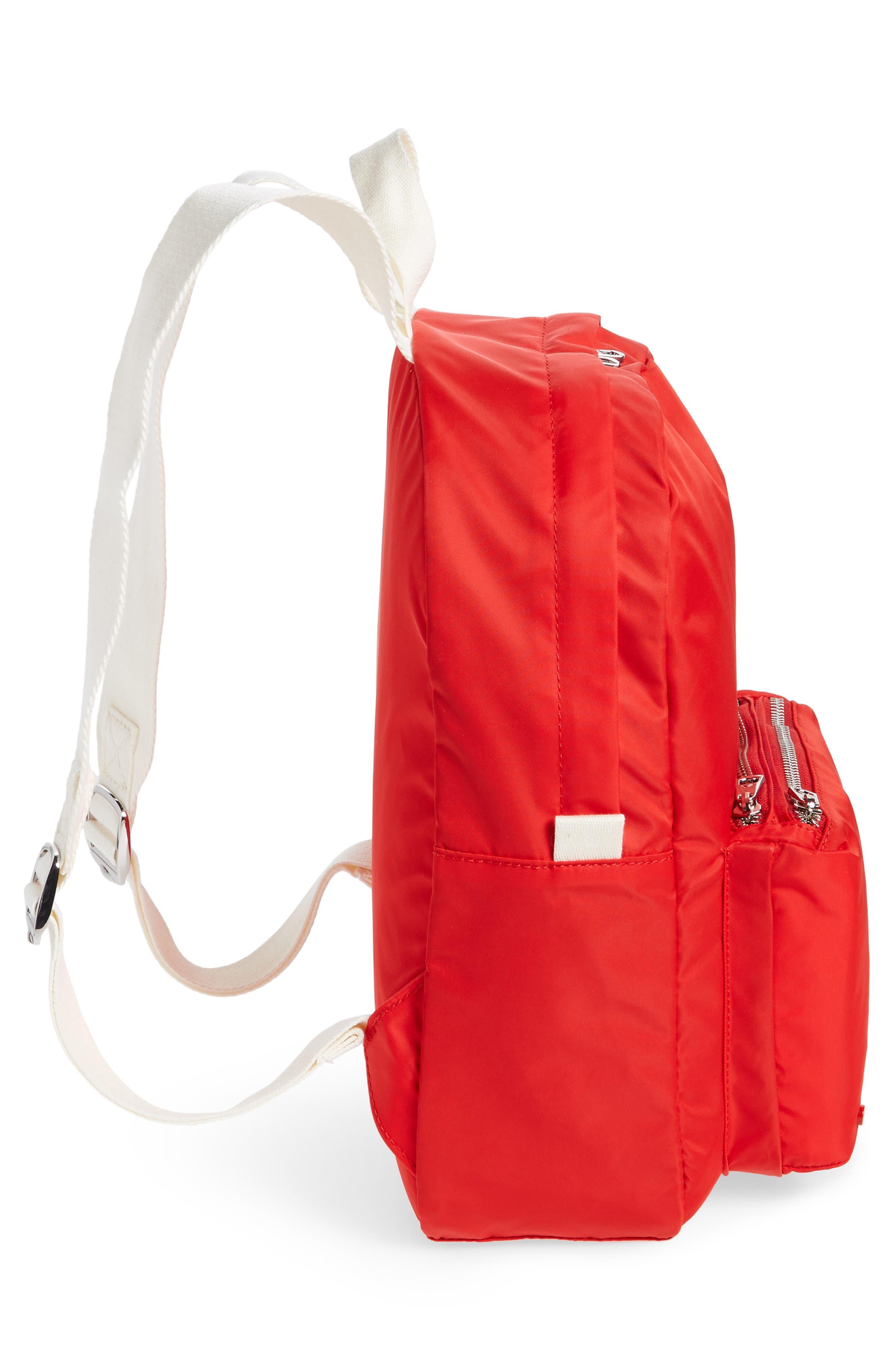 The Heights Mini Lorimer Nylon Backpack,                             Alternate thumbnail 5, color,                             RED