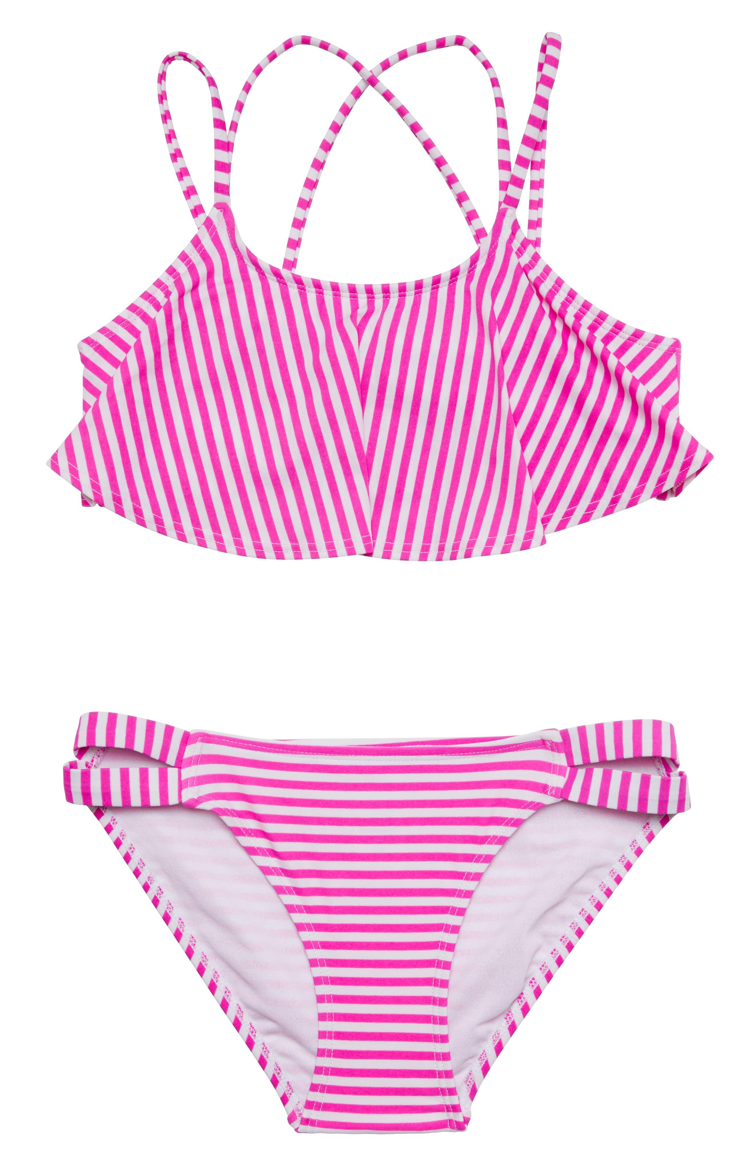 Girls Gossip Girl Electric Jungle TwoPiece Swimsuit Size 16  Black
