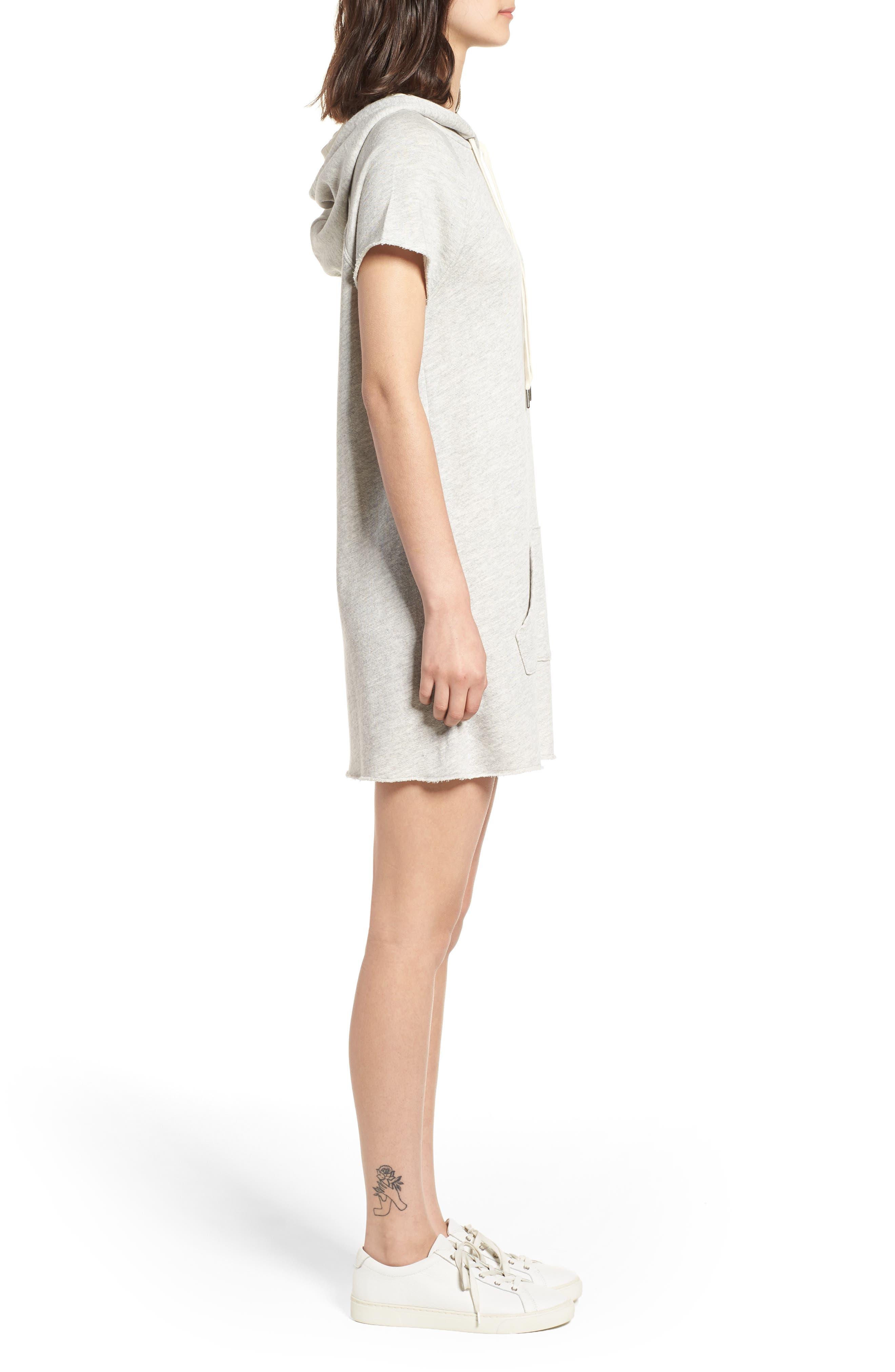 Spades Hoodie Dress,                             Alternate thumbnail 3, color,                             020