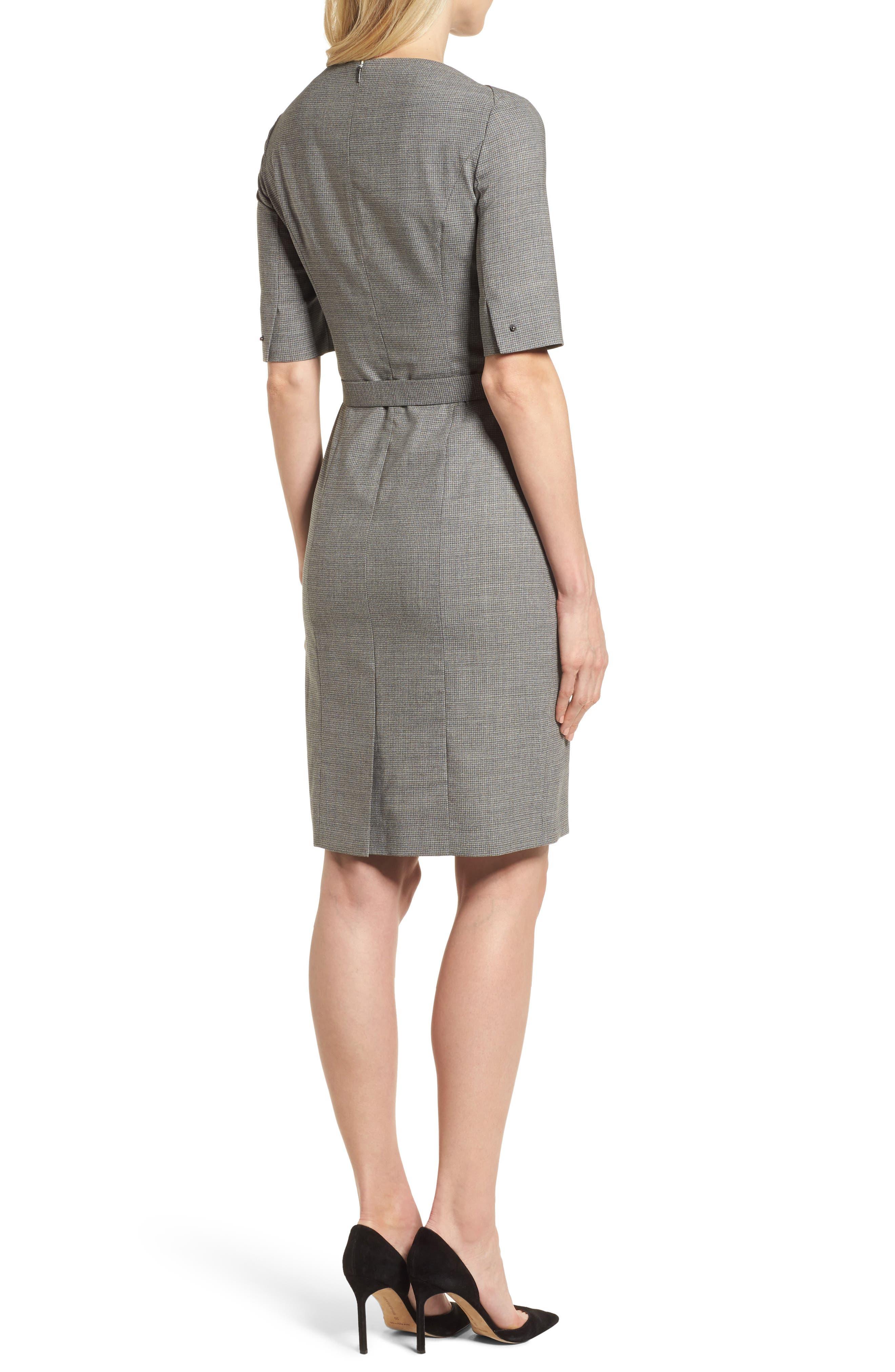 Dewisa Check Wool Sheath Dress,                             Alternate thumbnail 2, color,
