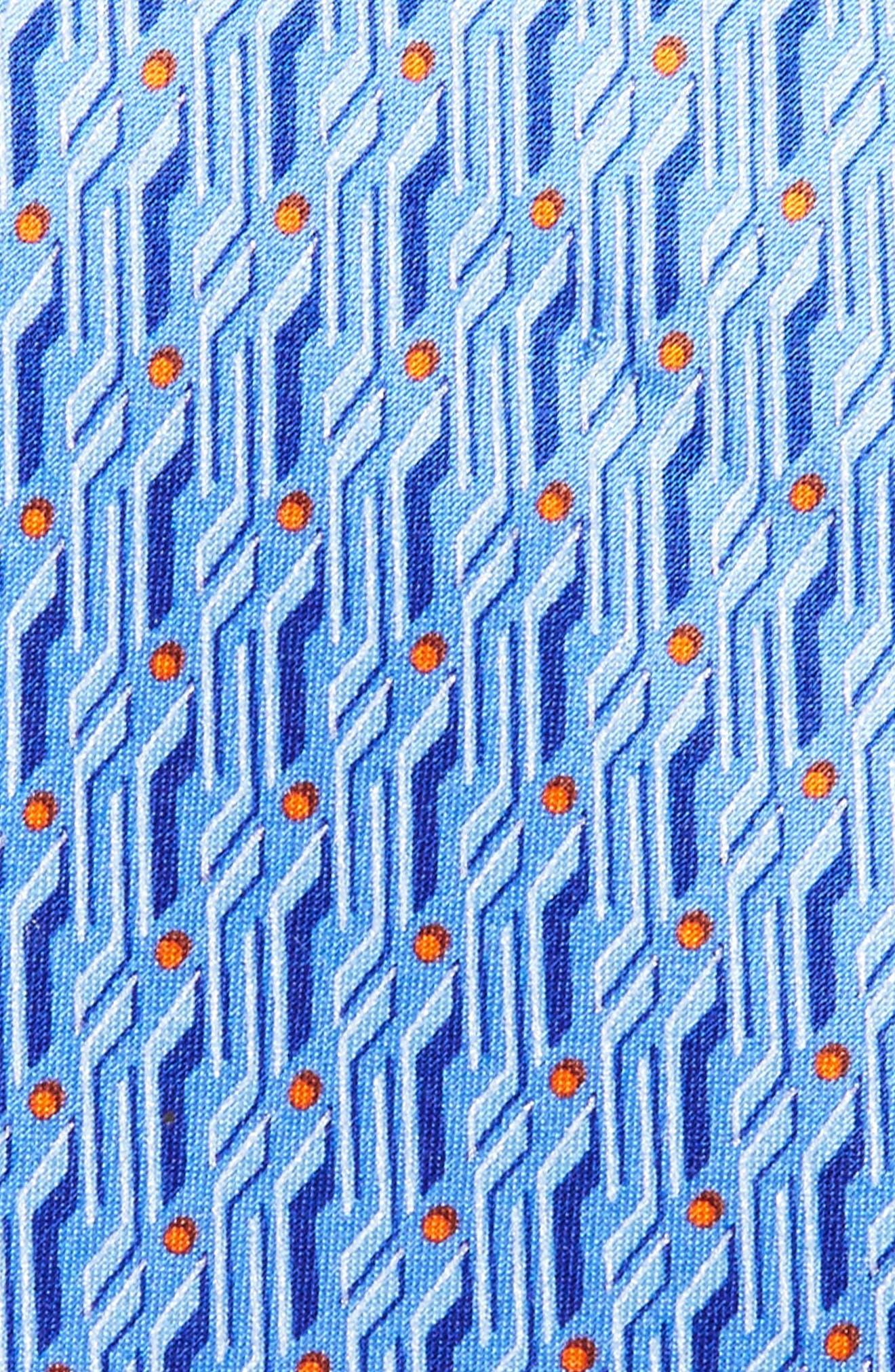 Geo Print Silk Tie,                             Alternate thumbnail 5, color,