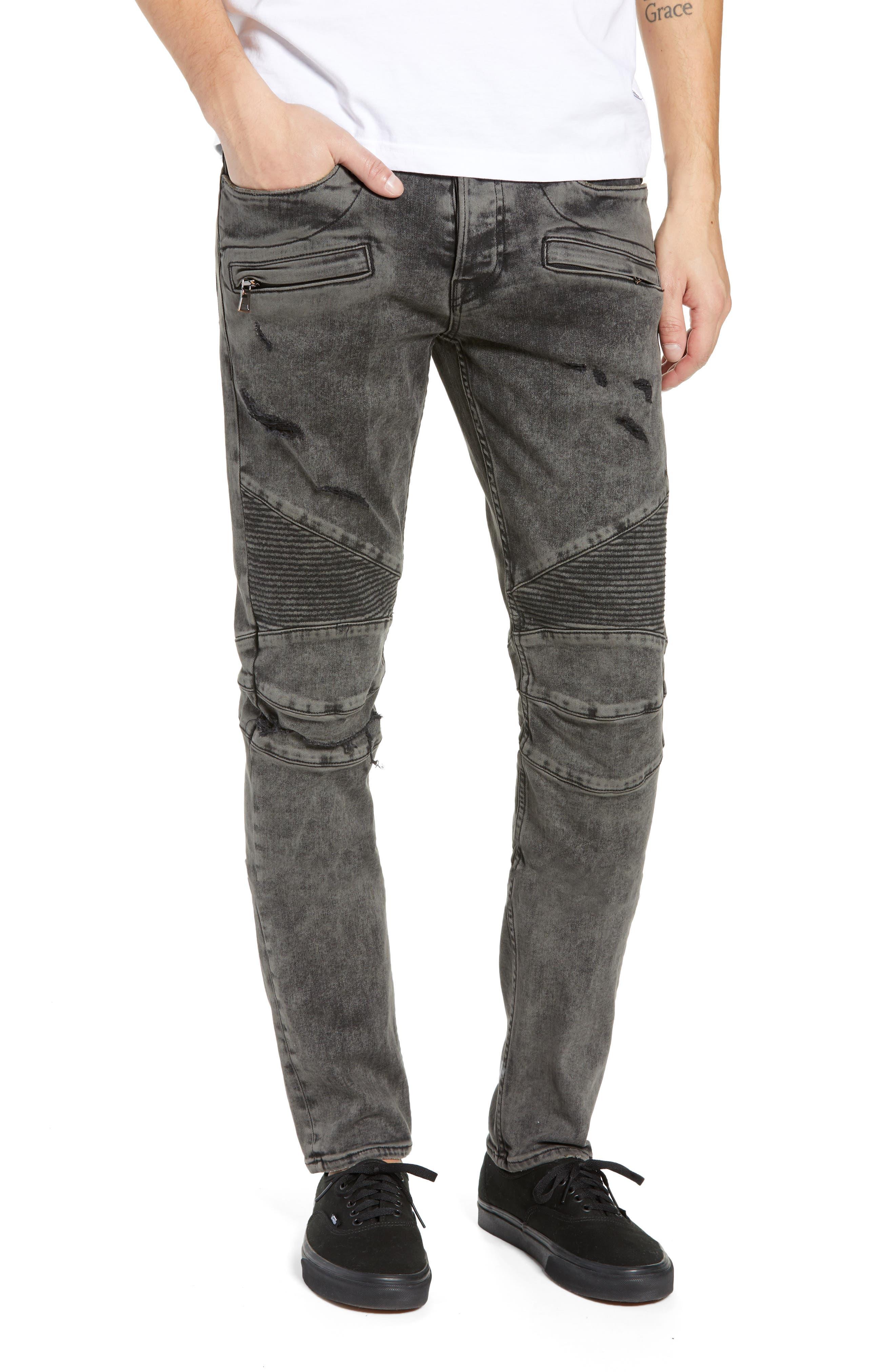 Blinder Biker Skinny Fit Jeans,                         Main,                         color, FADE GRAPHITE
