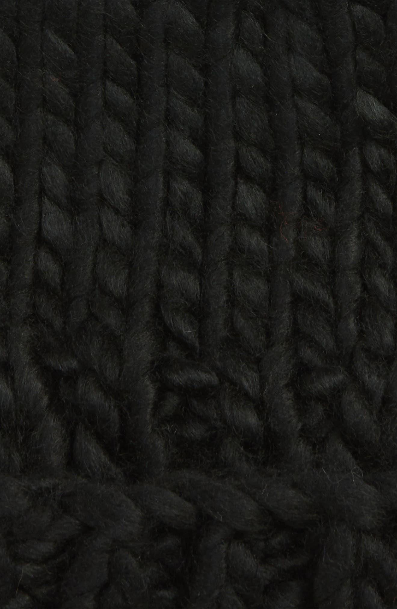 Chunky Knit Beanie,                             Alternate thumbnail 2, color,                             BLACK