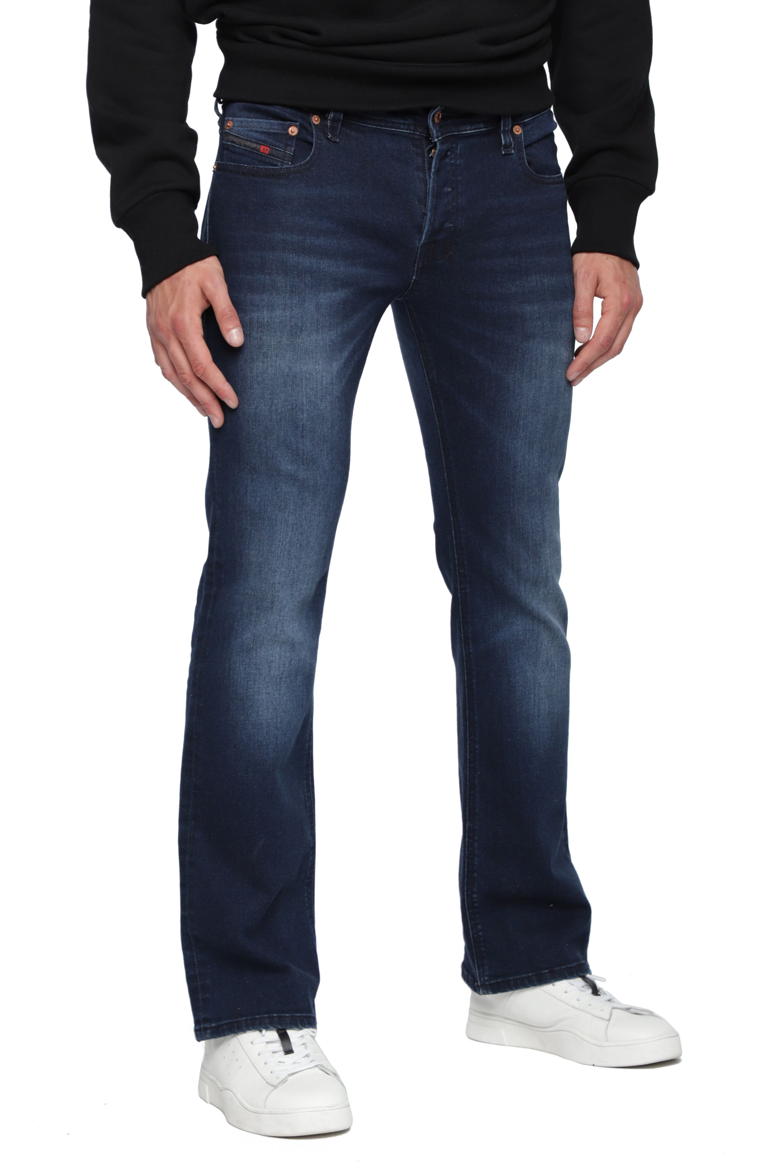 DIESEL<SUP>®</SUP>,                             Zatiny Bootcut Jeans,                             Main thumbnail 1, color,                             400