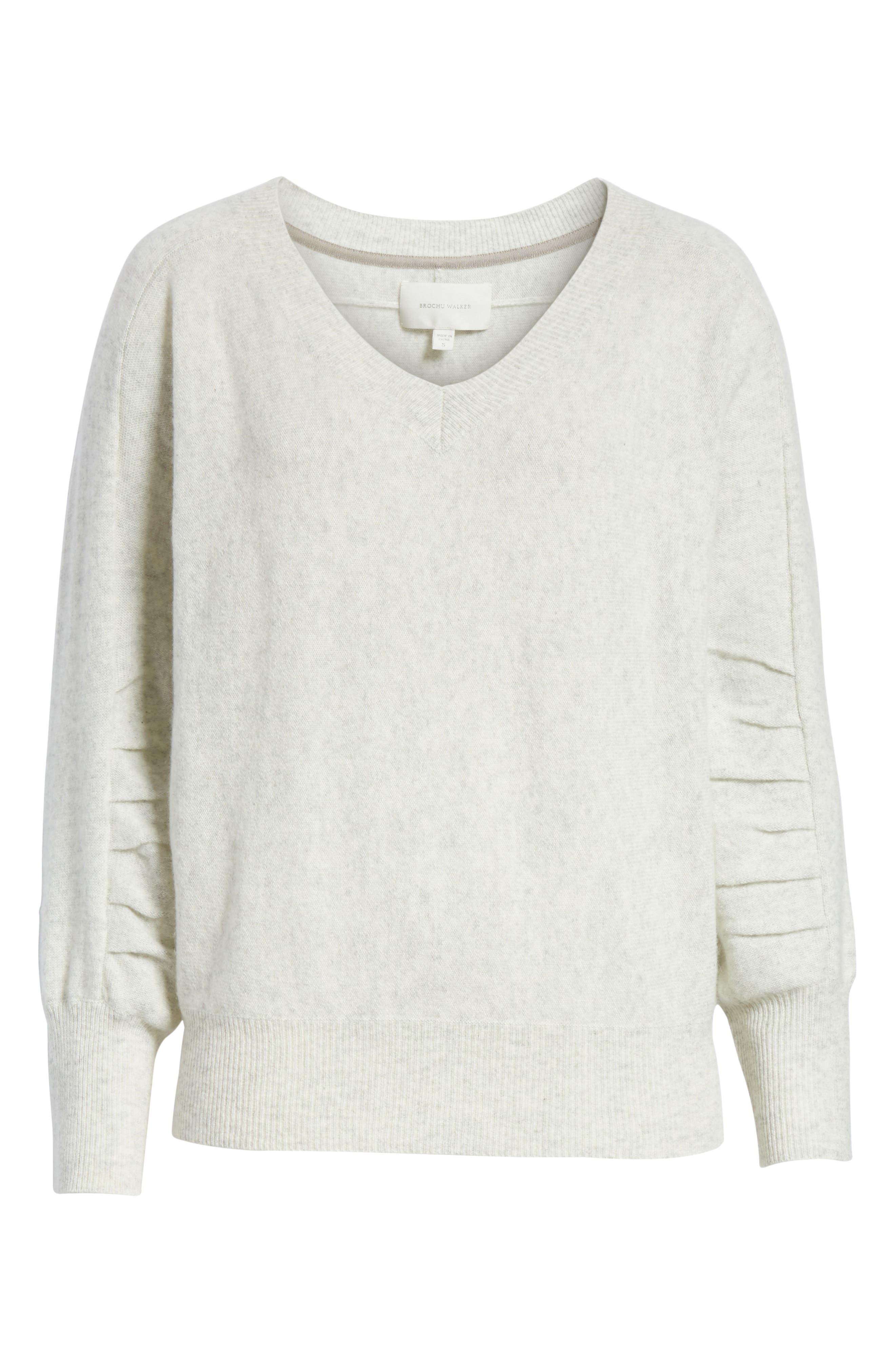 Weller Cashmere Sweater,                             Alternate thumbnail 6, color,                             100