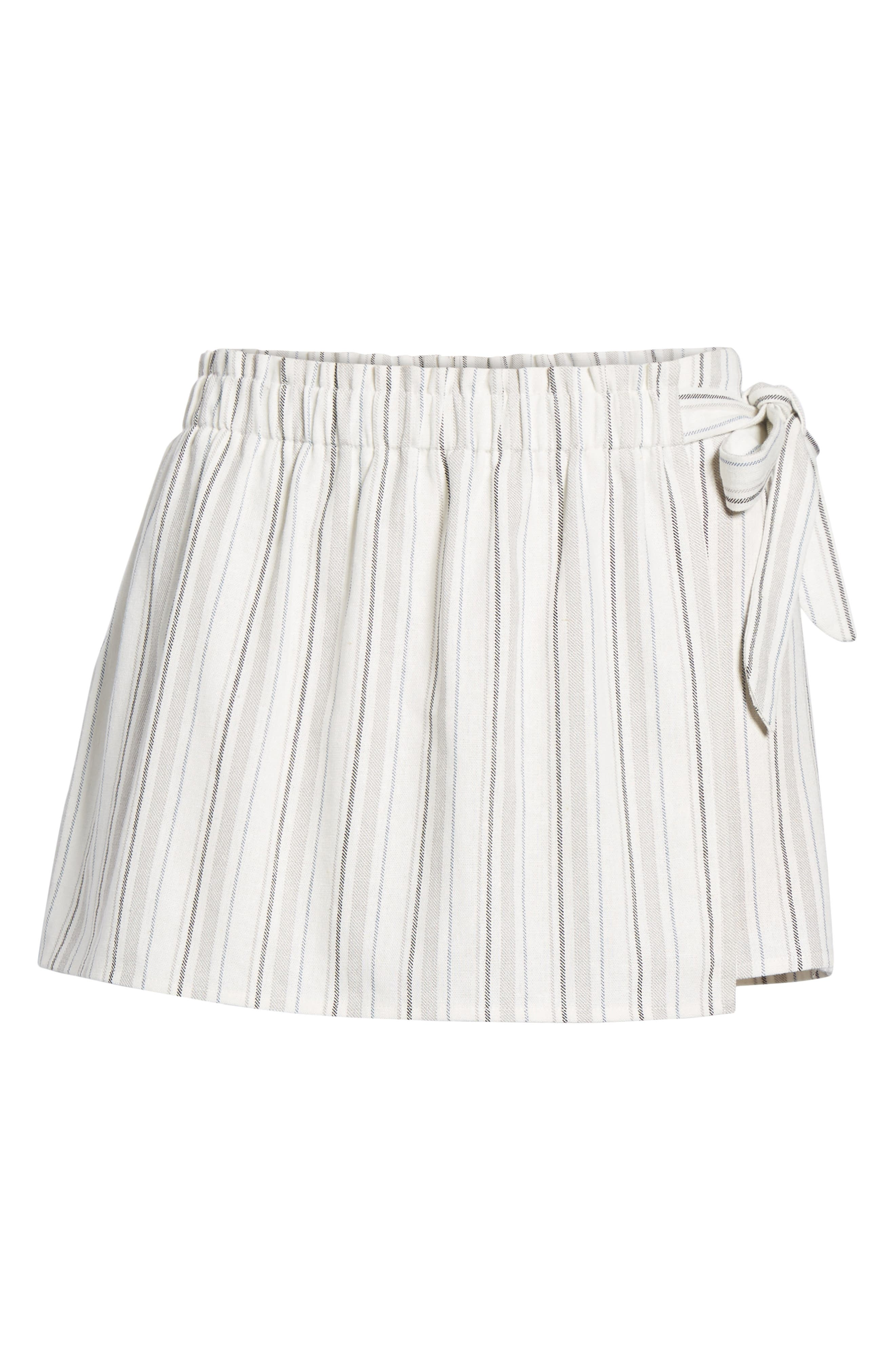 Side Tie Stripe Skort,                             Alternate thumbnail 6, color,                             250
