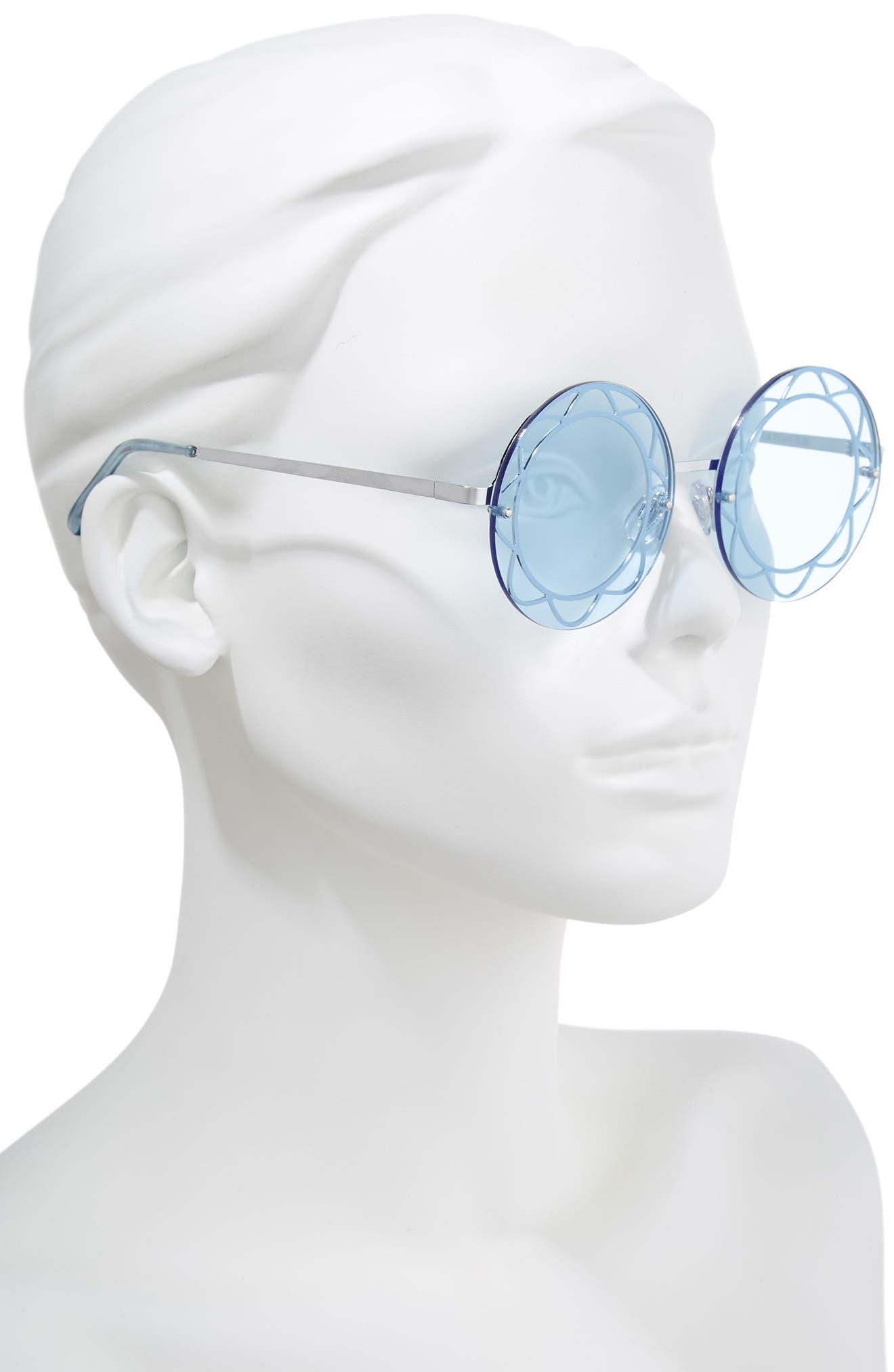 55mm Round Sunglasses,                             Alternate thumbnail 2, color,                             047