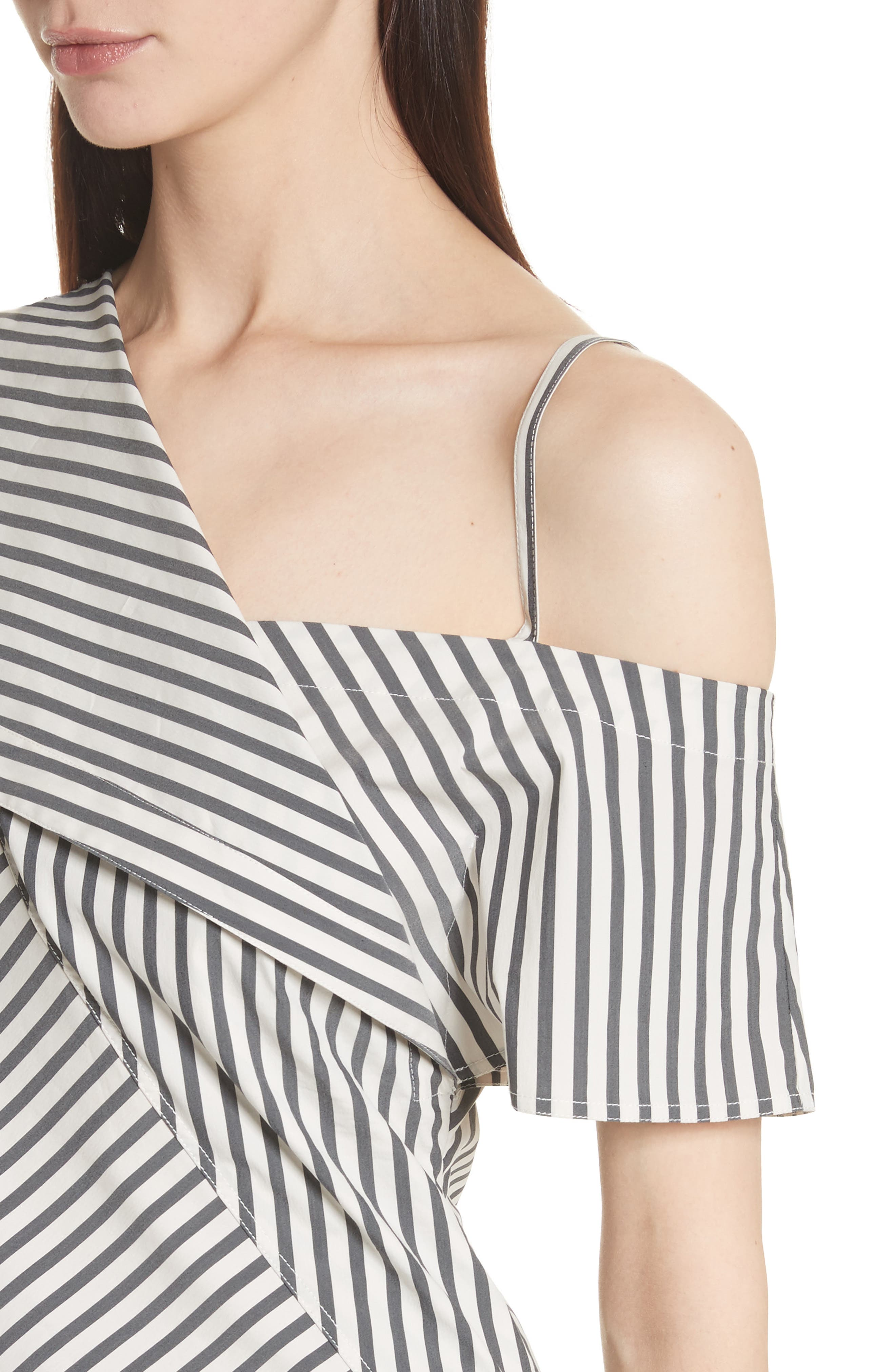 Brys Stripe Foldover Top,                             Alternate thumbnail 4, color,                             002