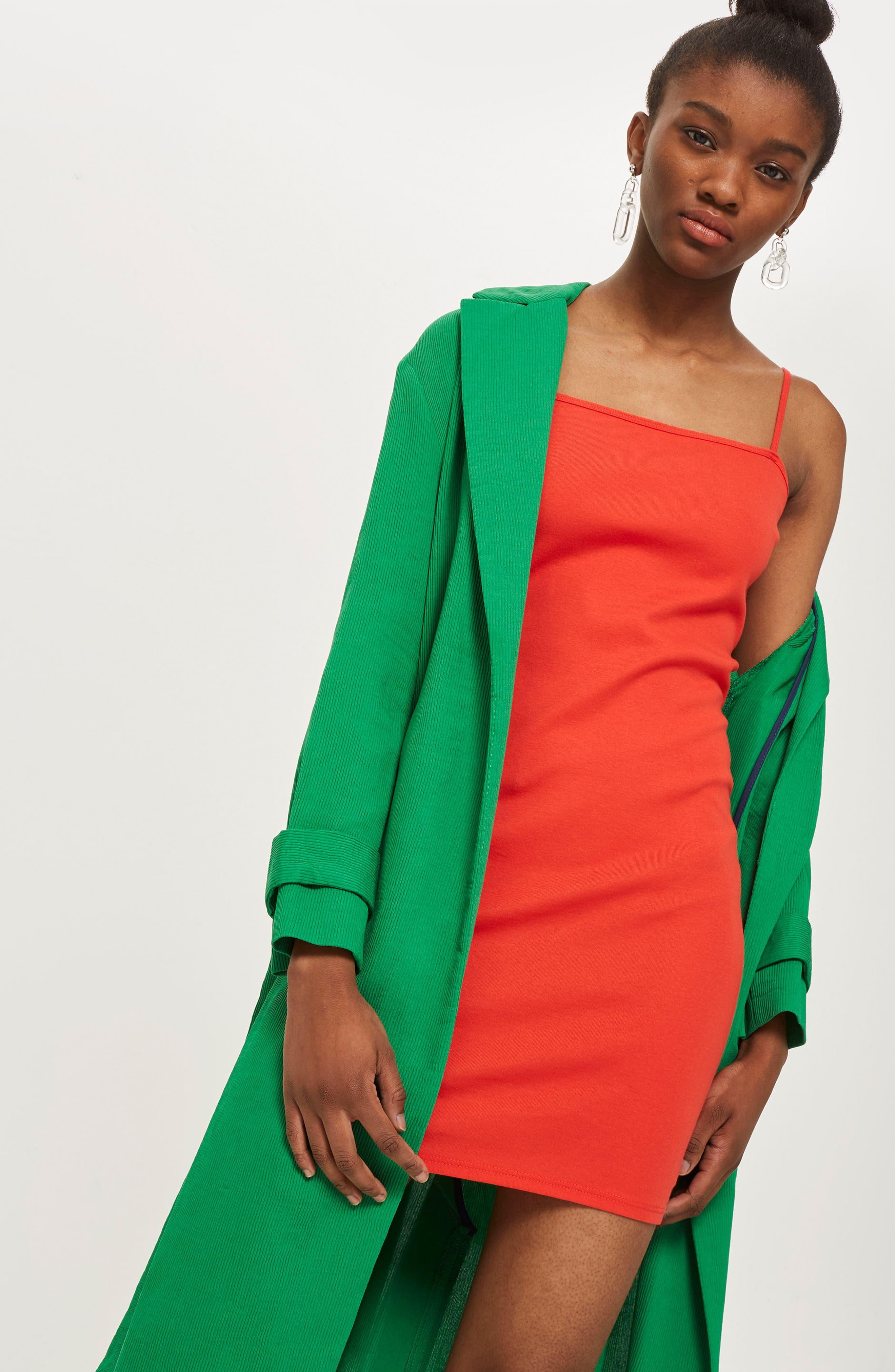 Jersey Body-Con Minidress,                             Alternate thumbnail 4, color,                             001