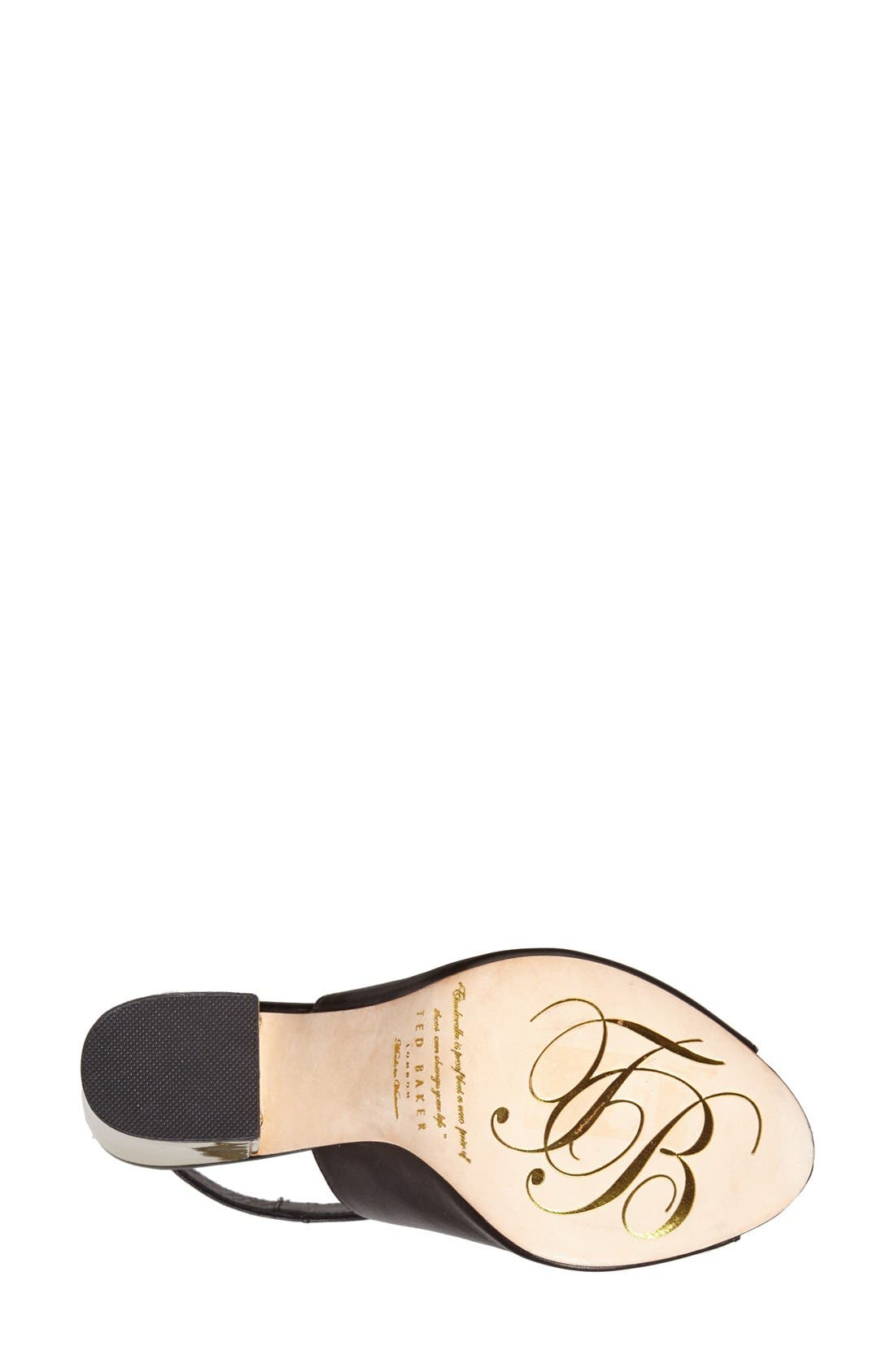 'Montagny' Leather Sandal,                             Alternate thumbnail 3, color,                             001