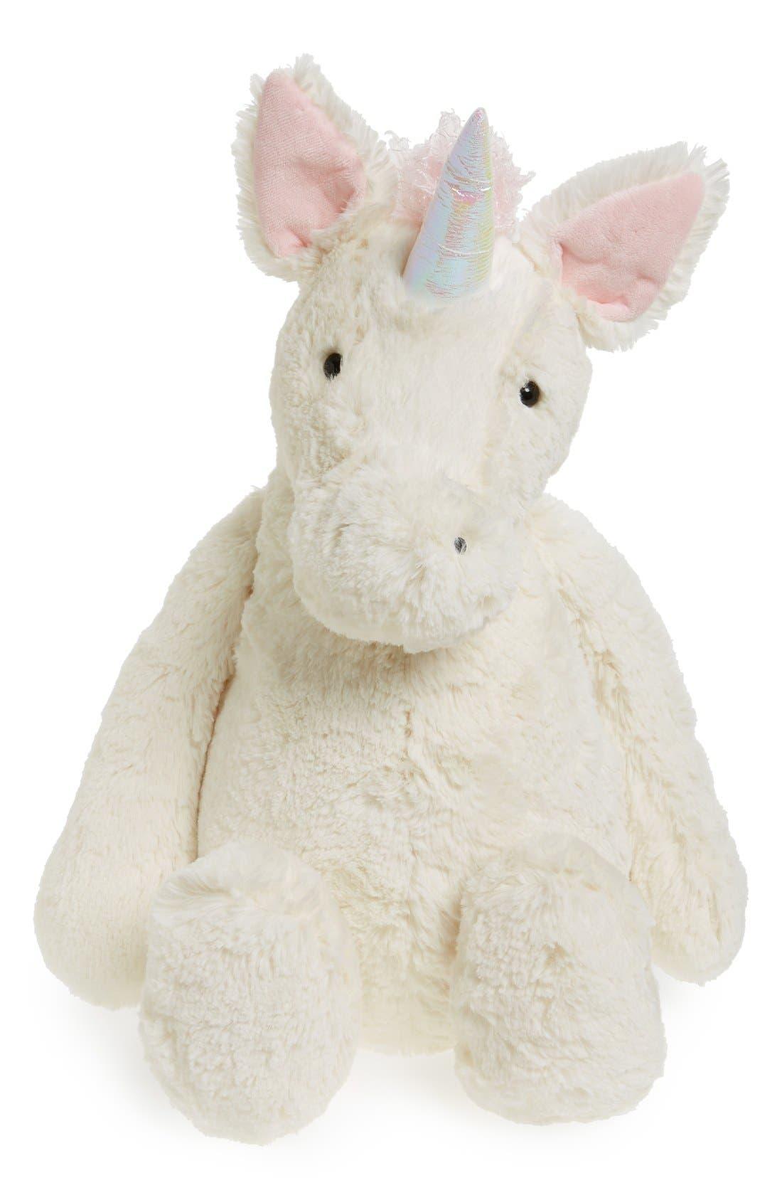 'Huge Bashful Unicorn' Stuffed Animal,                             Main thumbnail 1, color,                             CREAM