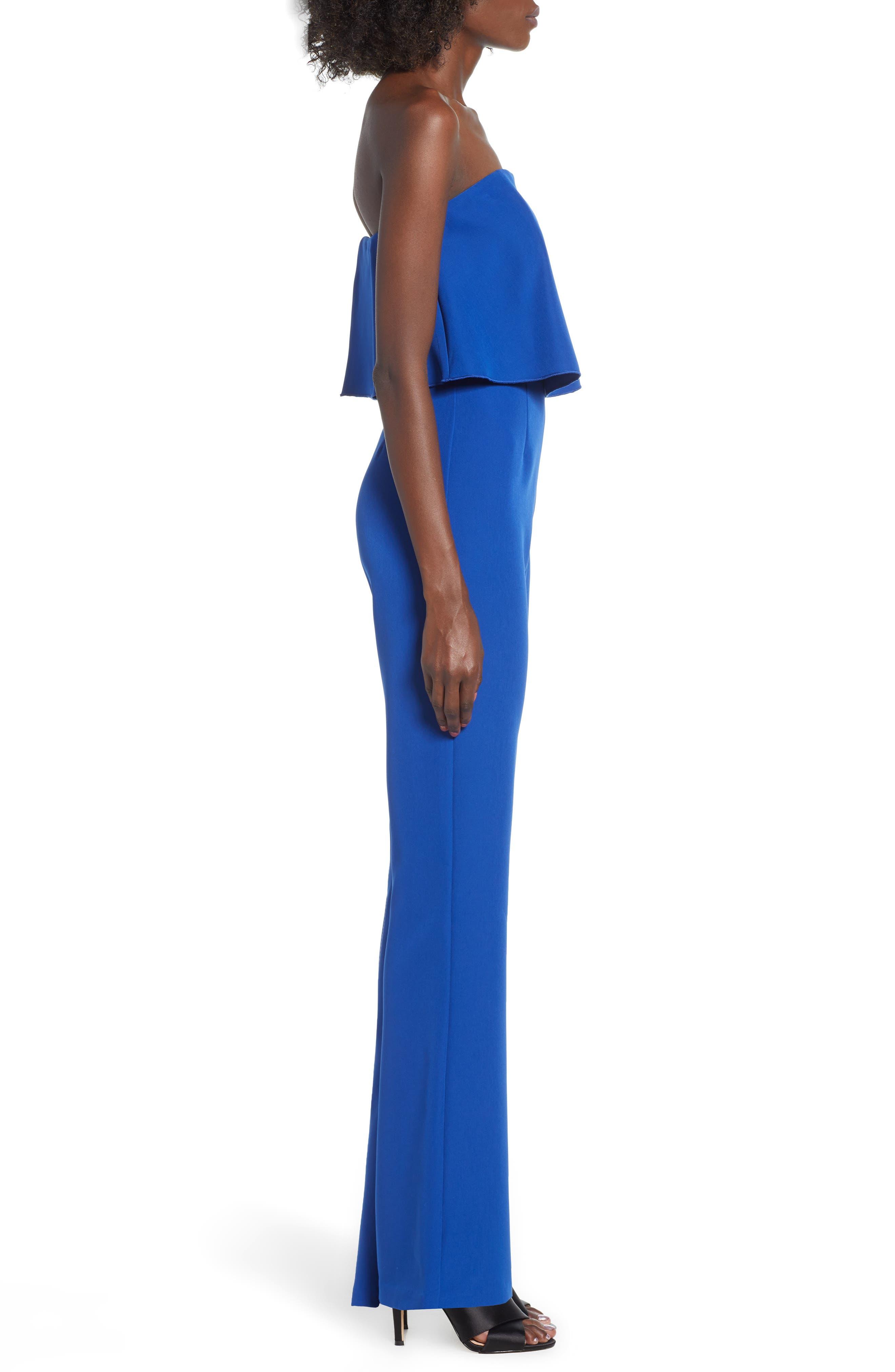 Popover Jumpsuit,                             Alternate thumbnail 3, color,                             BLUE MAZARINE